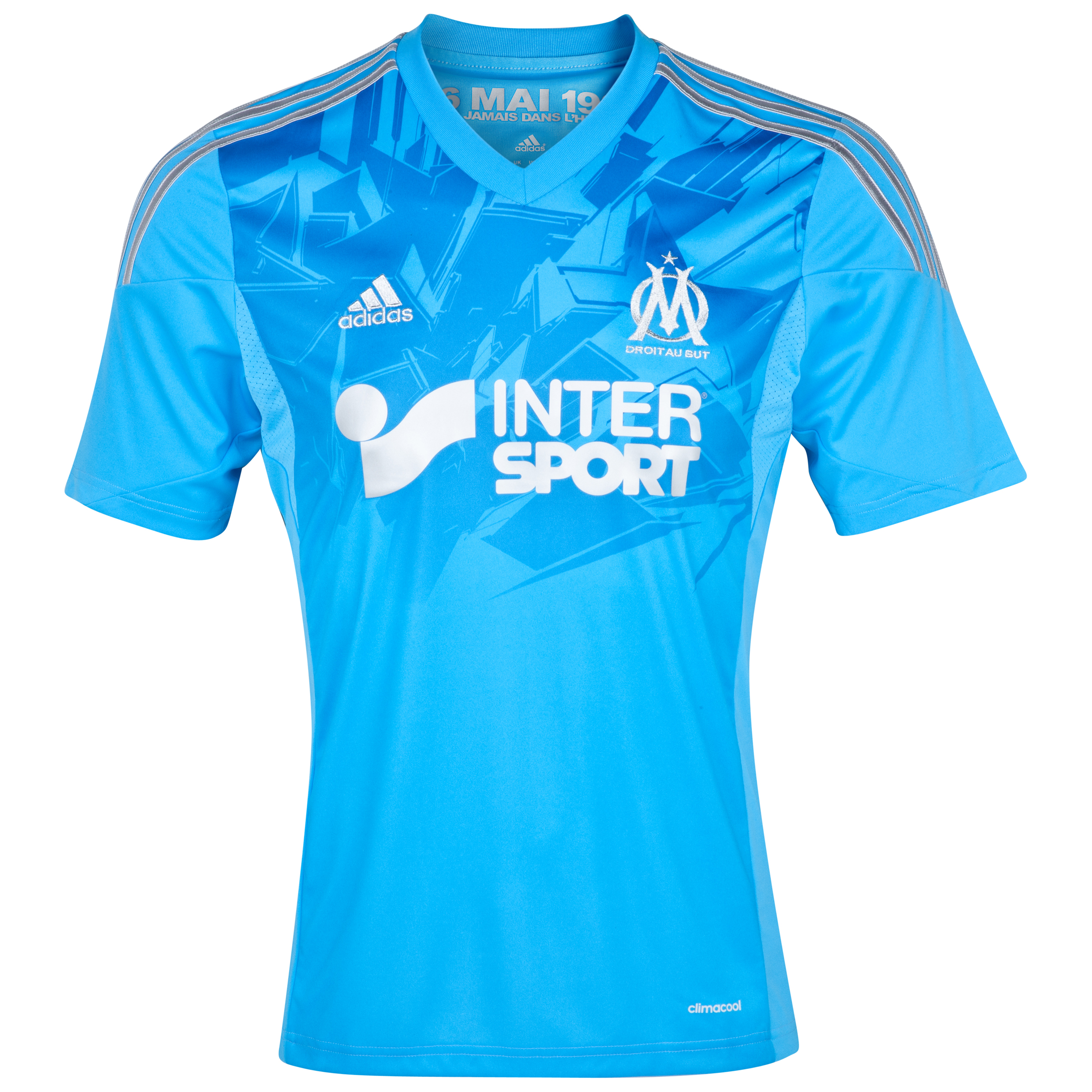 Olympique de Marseille Techfit Third Shirt 2013/14 Blue