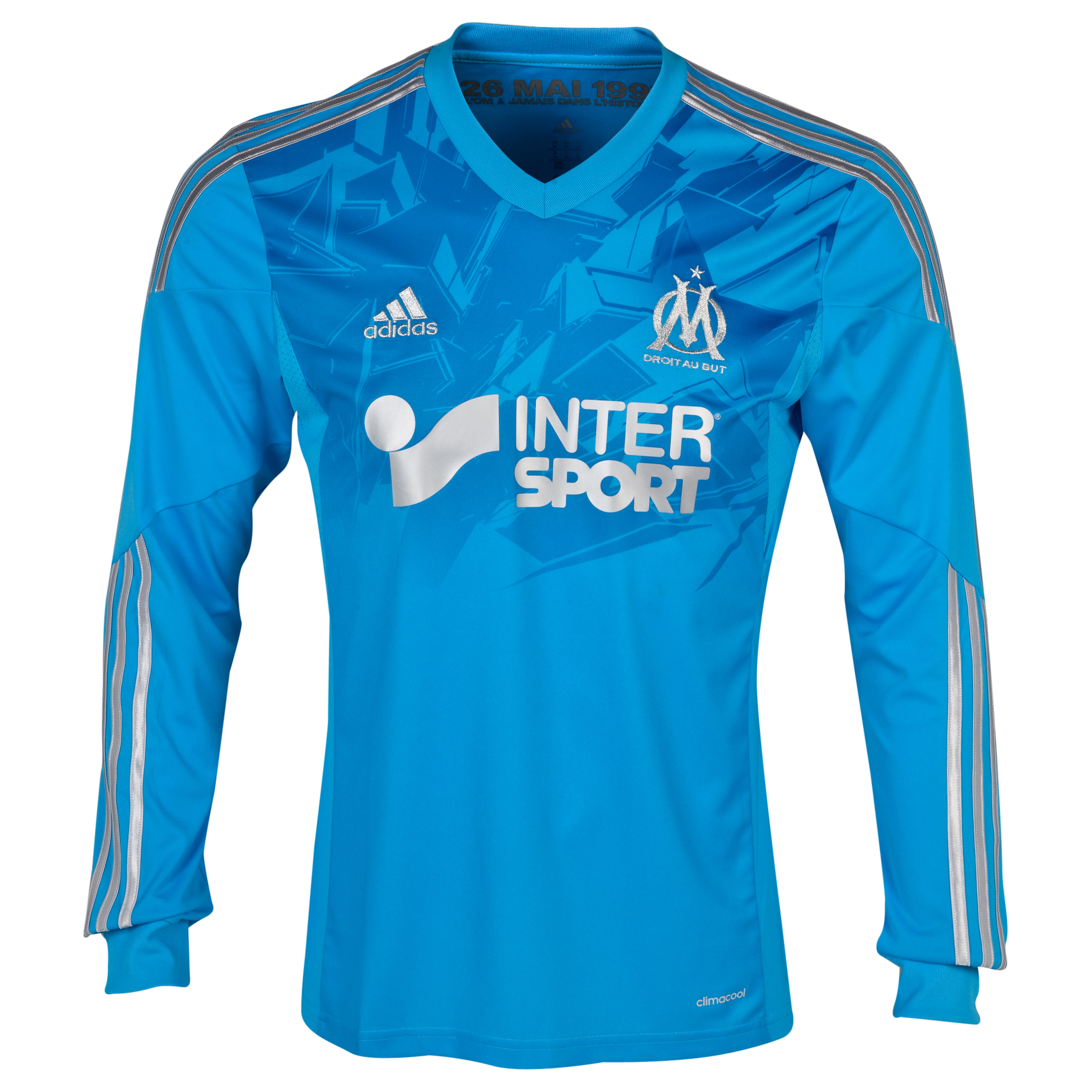 Olympique de Marseille Third Shirt LS 2013/14 - Mens Blue