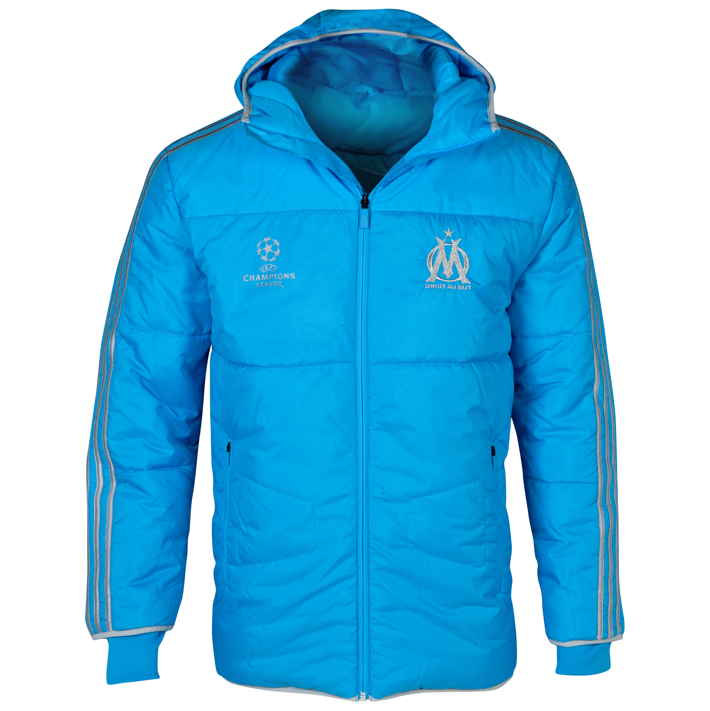 Olympique de Marseille EURO Padded Jacket - Mens Blue