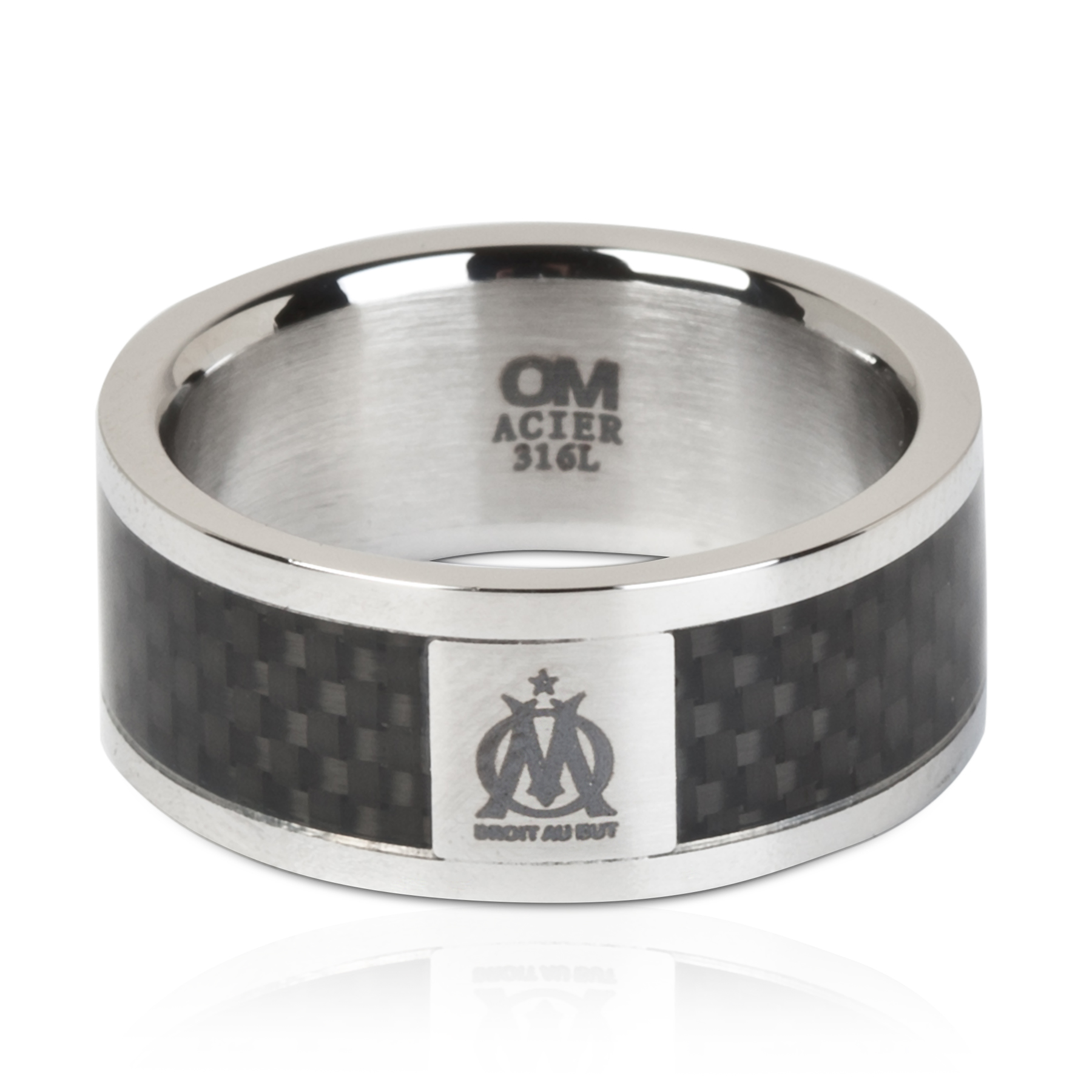 Olympique De Marseille Stainless Steel Band Ring