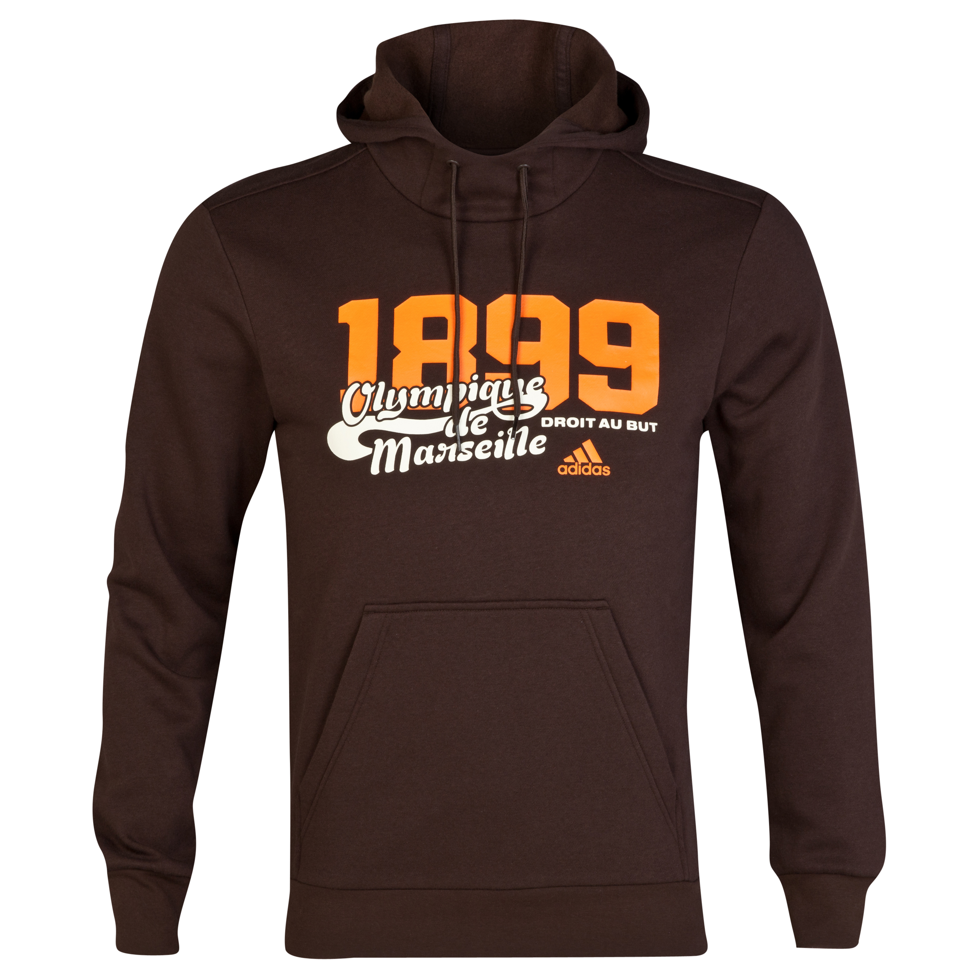 Sweat à capuche adidas Authentic Olympique de Marseille - Marron
