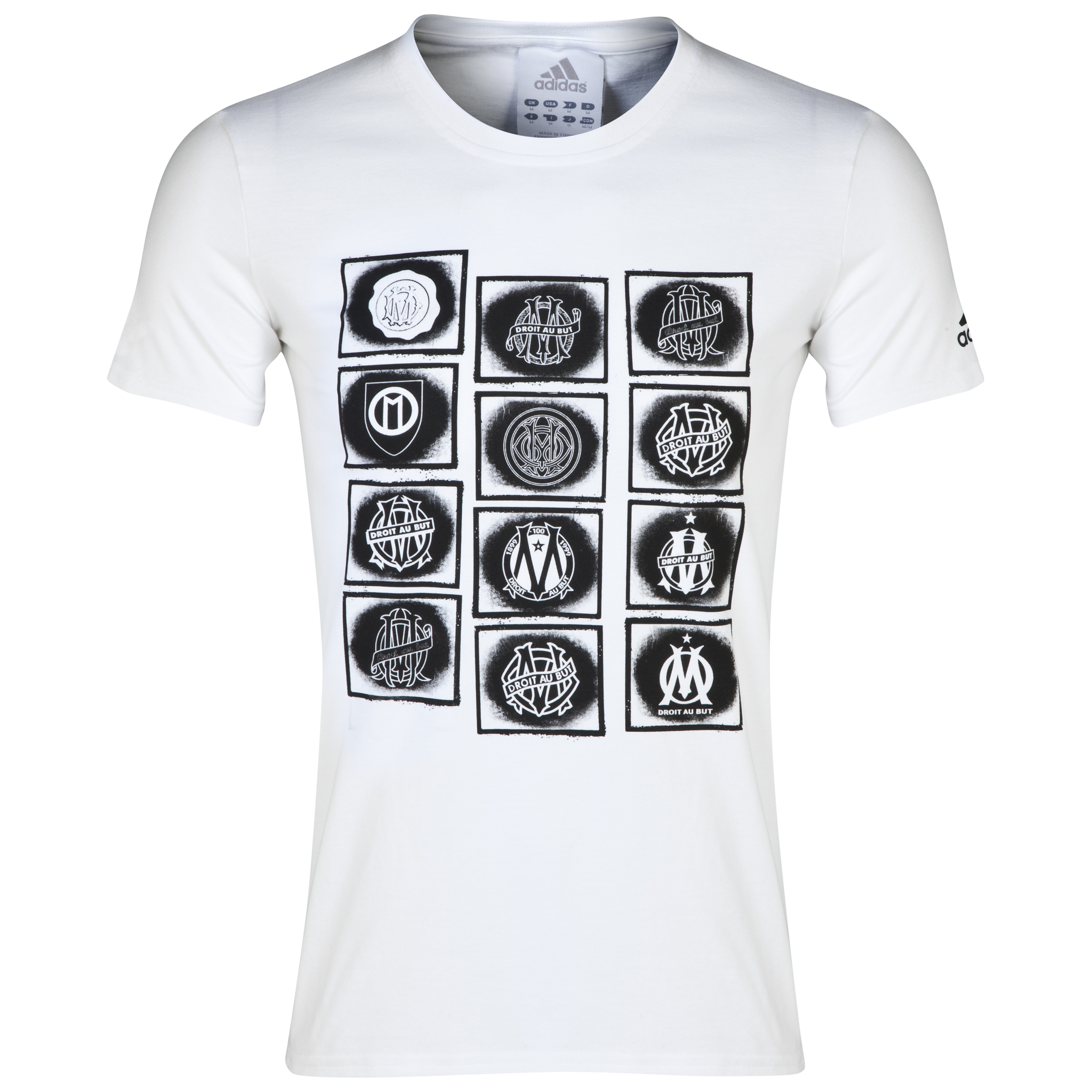 Olympique de Marseille Crest Graphic T-Shirt White