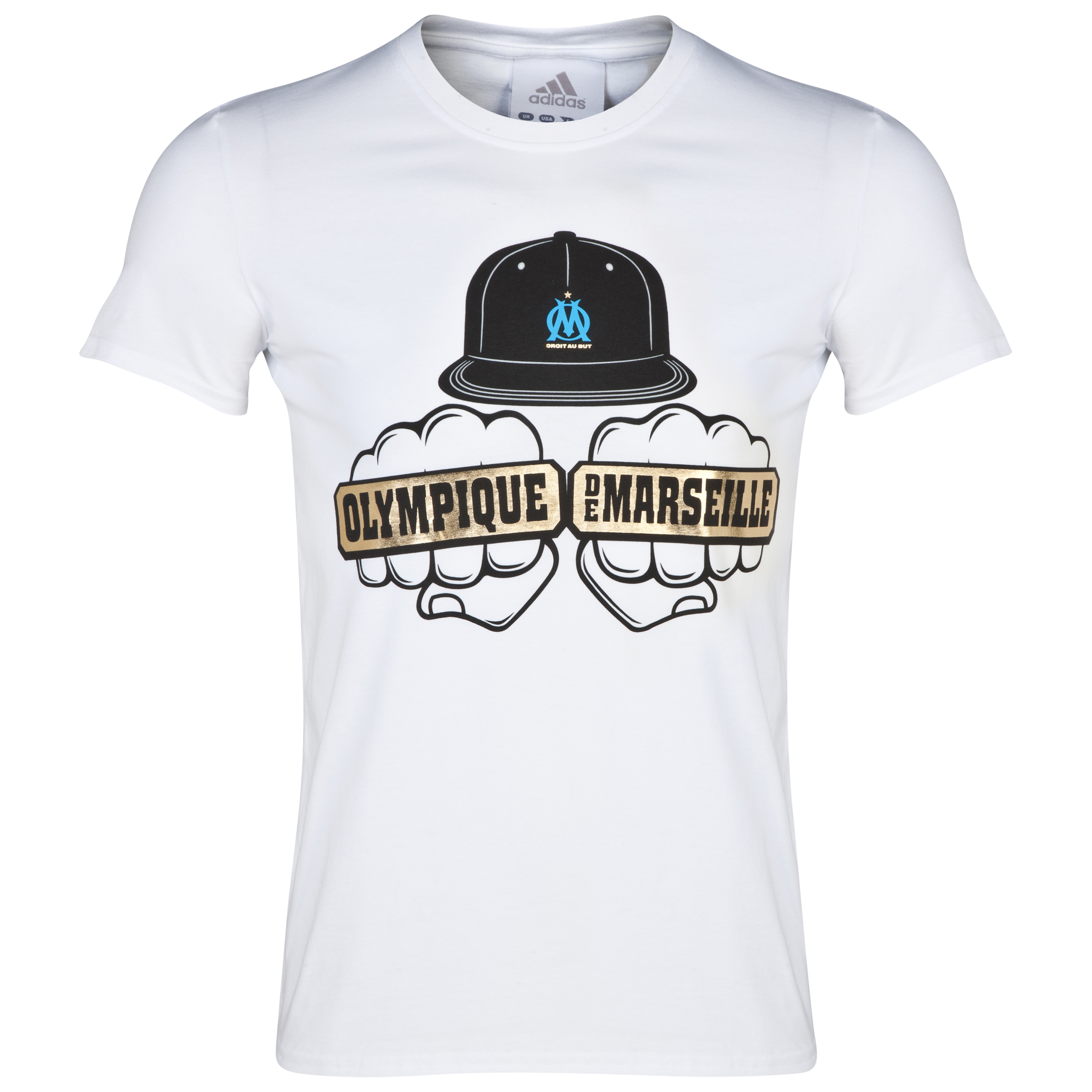 Olympique de Marseille Knuckle Graphic T-Shirt White