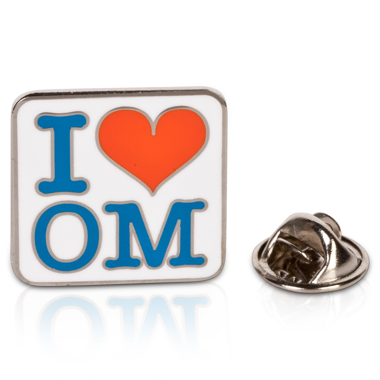 "Image of ""Olympique de Marseille - Pin's « I Love OM »"""