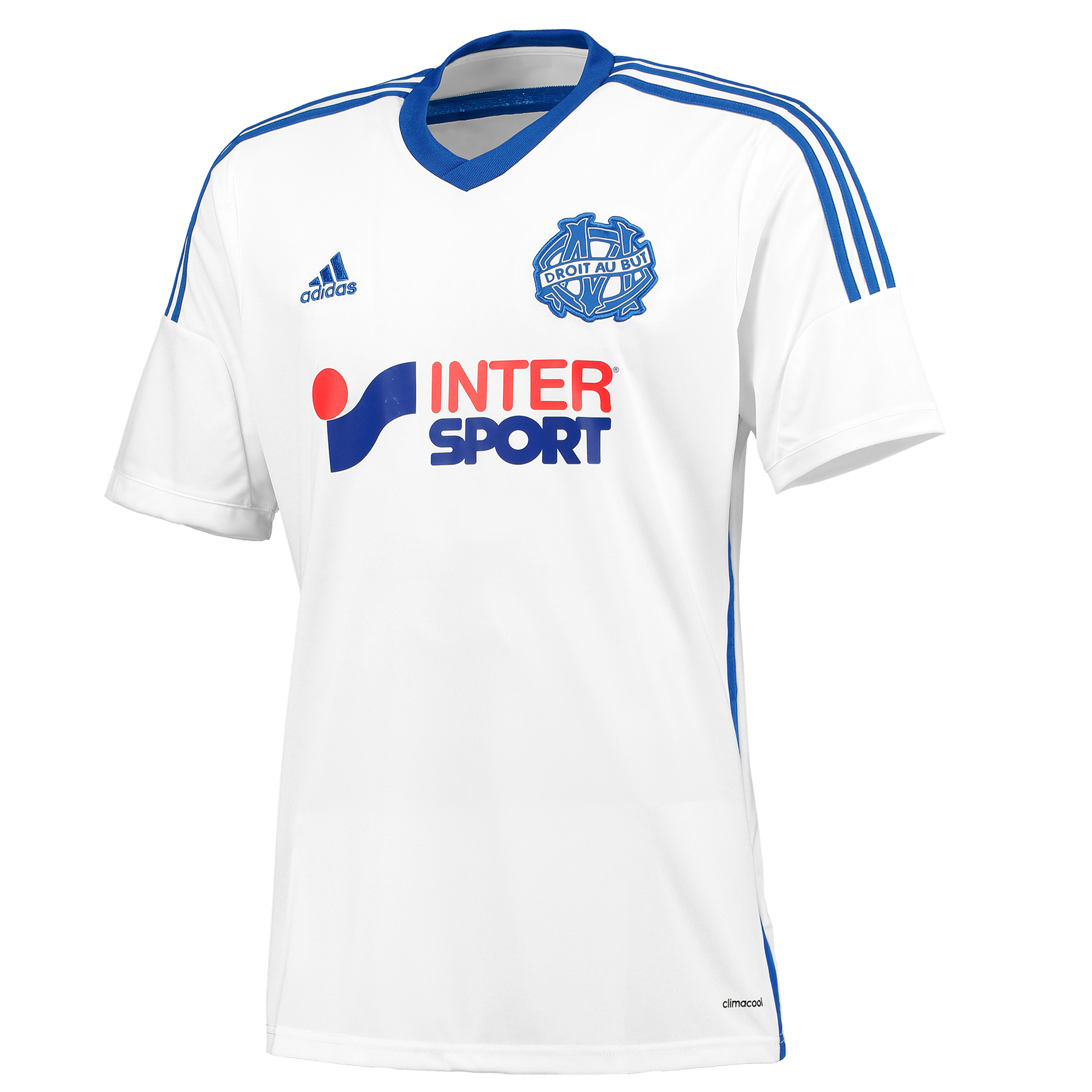 Olympique de Marseille Home Shirt Short Sleeve 2014/15 White