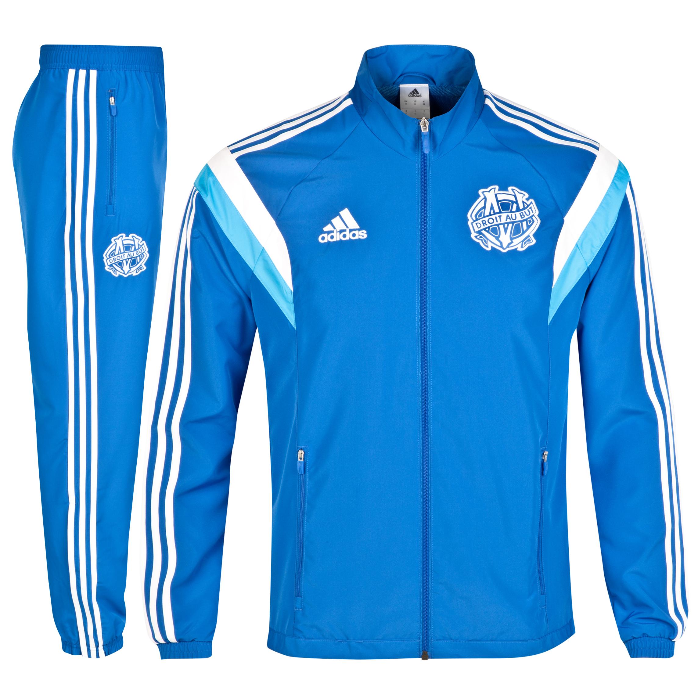 Olympique de Marseille Presentation Suit Lt Blue
