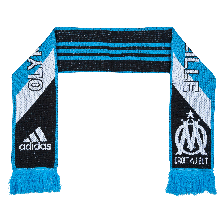 Olympique de Marseille 3 Stripe Scarf Black