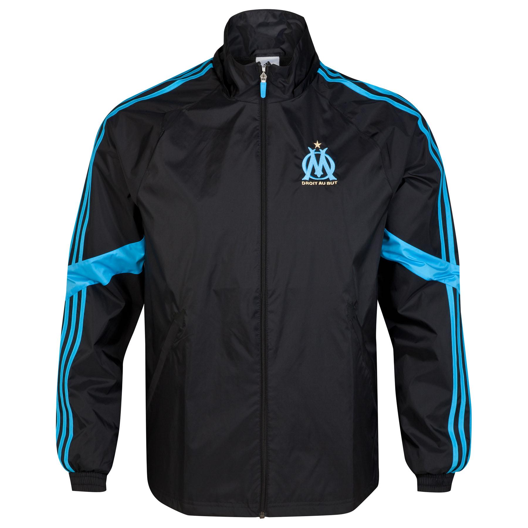 Olympique de Marseille Euro Rain Jacket Black