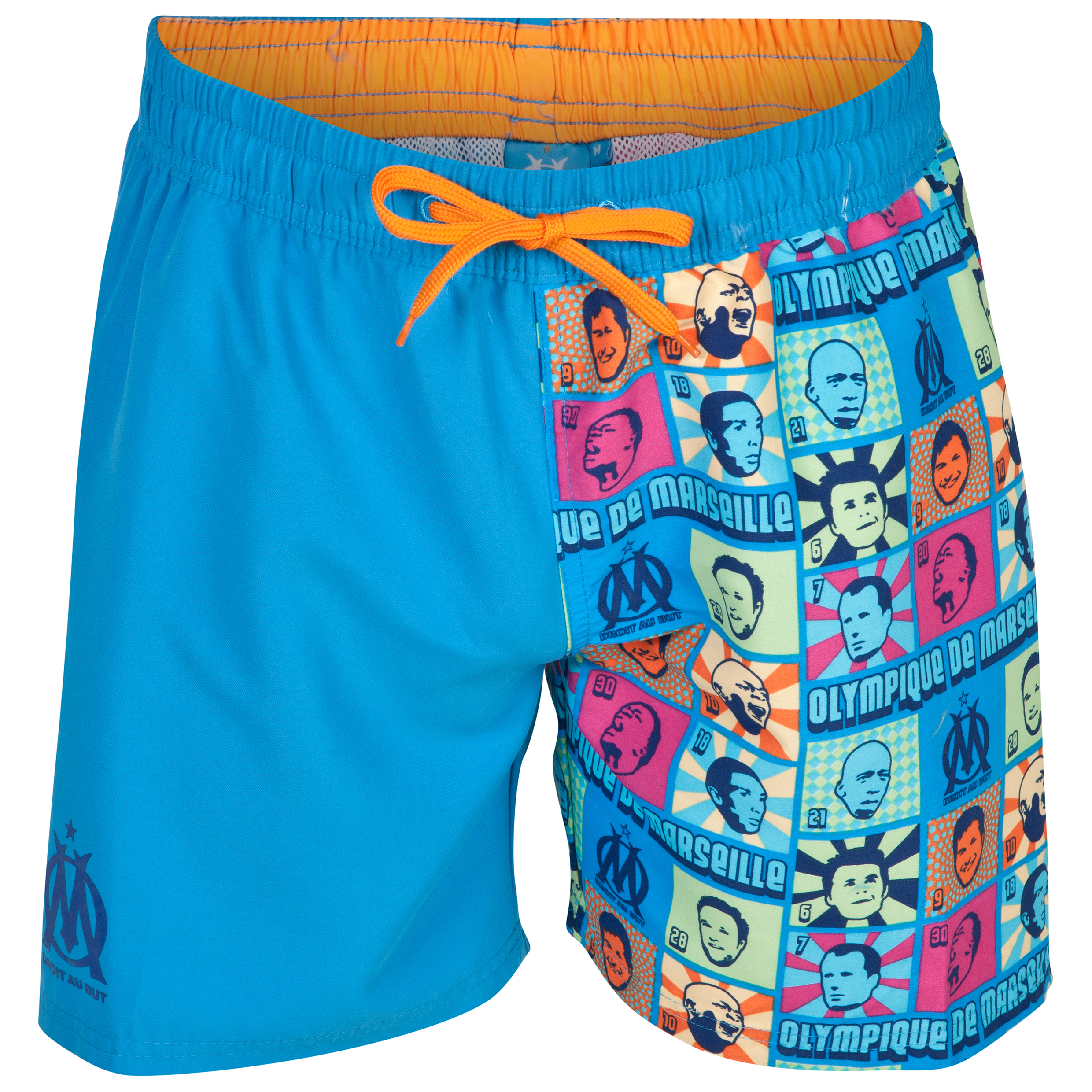 Olympique de Marseille Fan Swimshorts - Mens Blue
