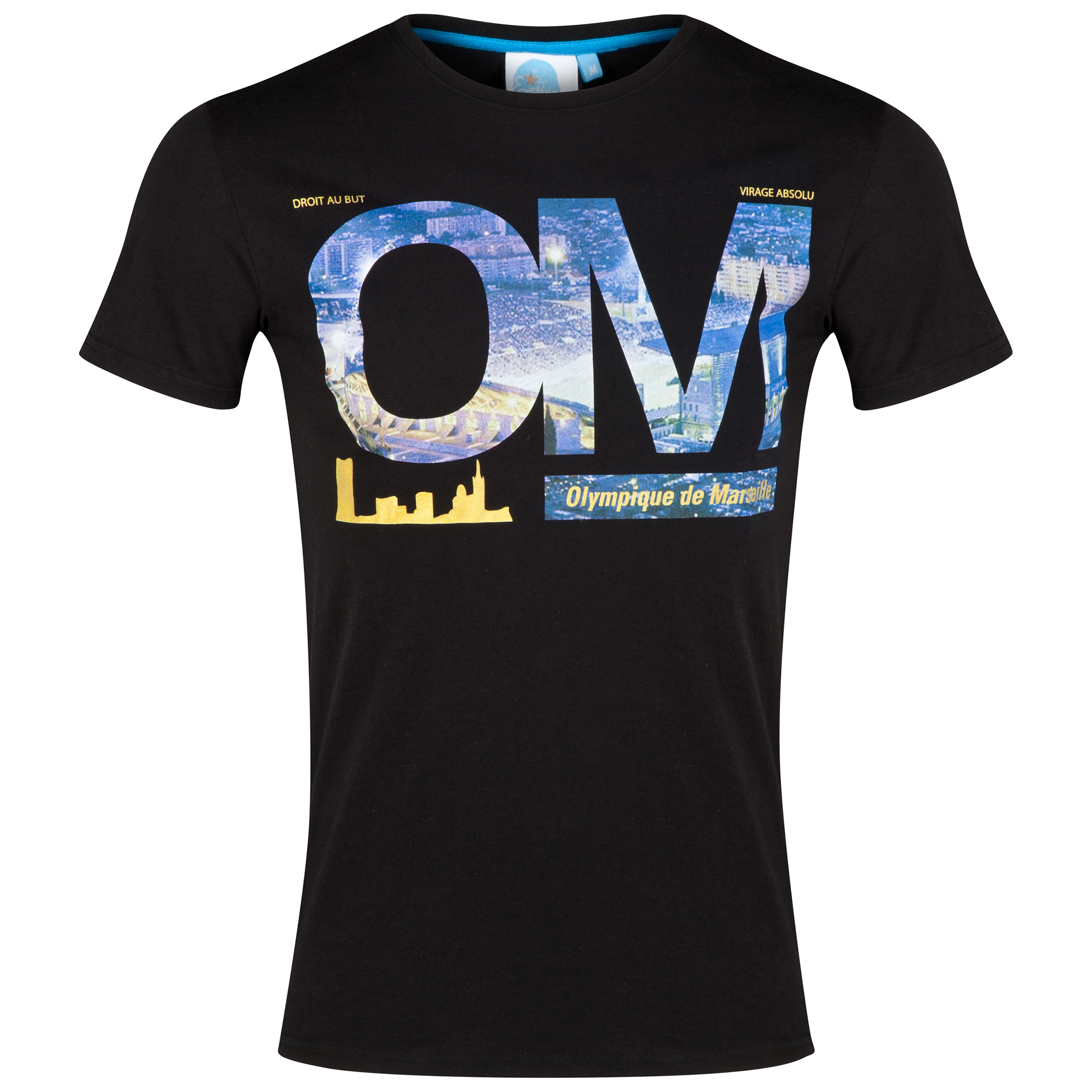 Olympique de Marseille Supporter T-Shirt - Mens Black