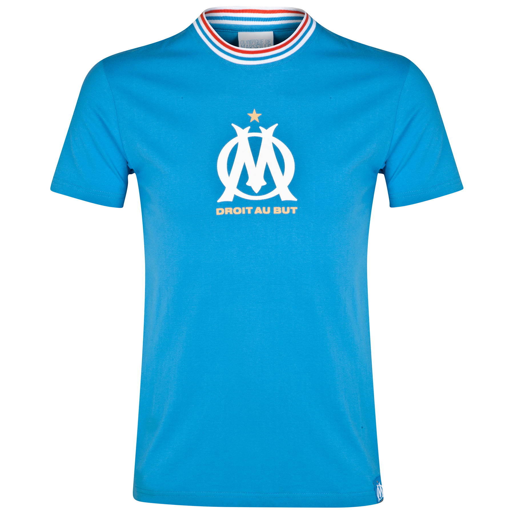 Olympique de Marseille Crest Logo T-Shirt - Blue - Mens