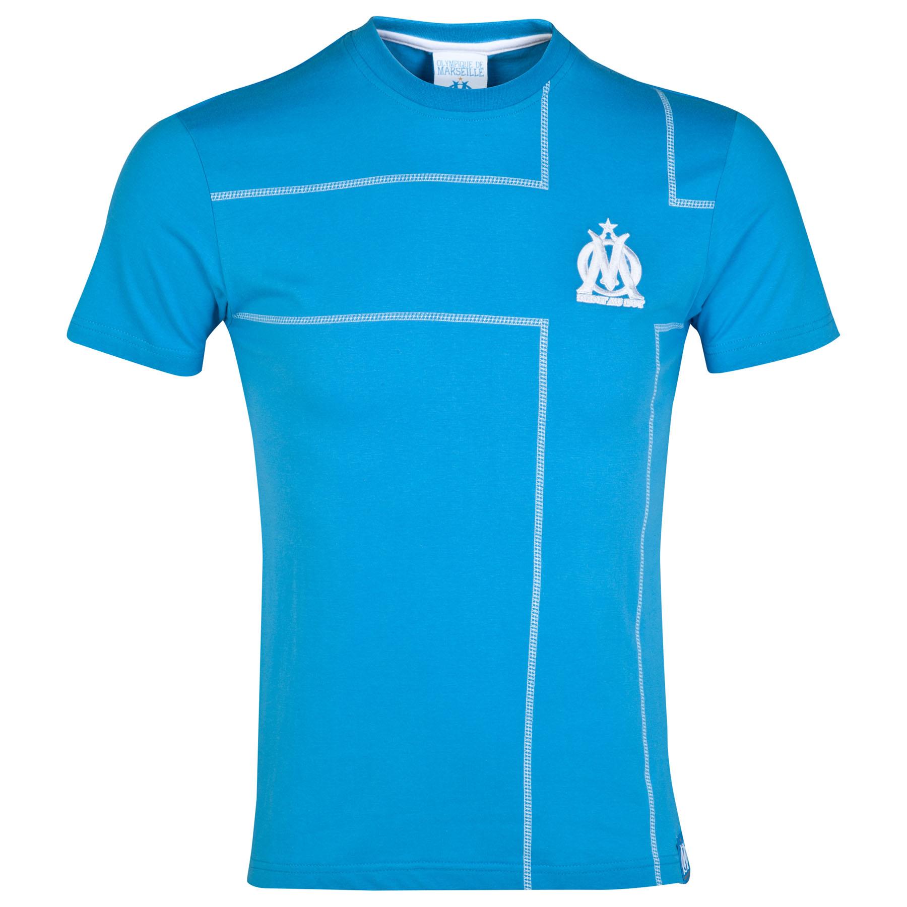 Olympique de Marseille Cross T-Shirt - Blue - Mens