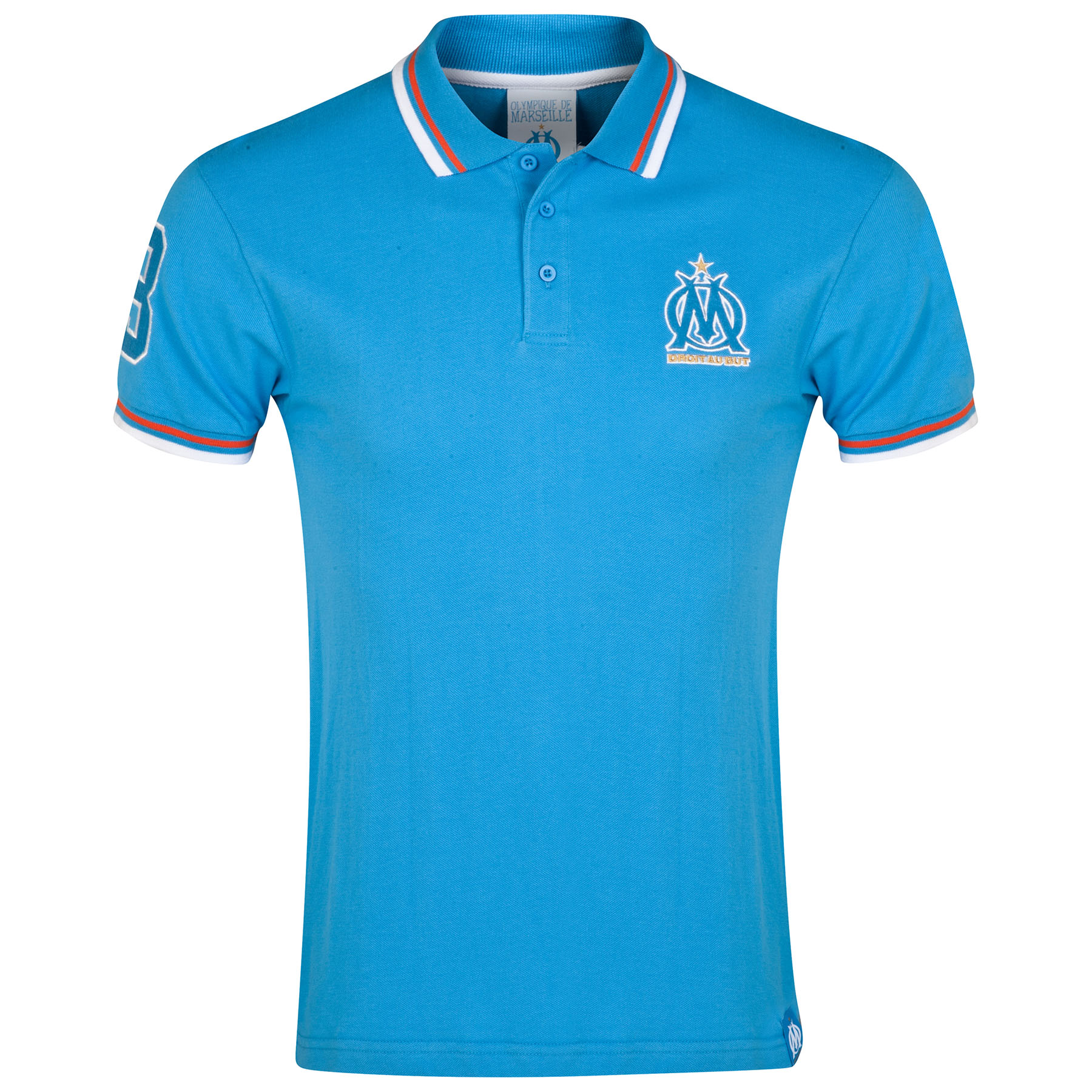 Olympique de Marseille Fan Polo Shirt - Blue - Mens