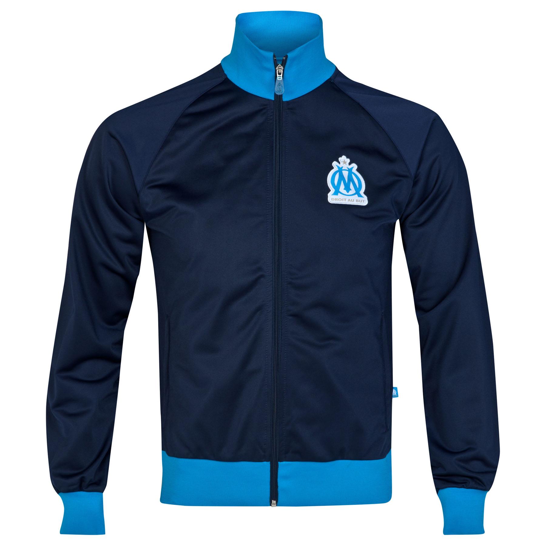 Olympique de Marseille Track Jacket - Marine - Mens