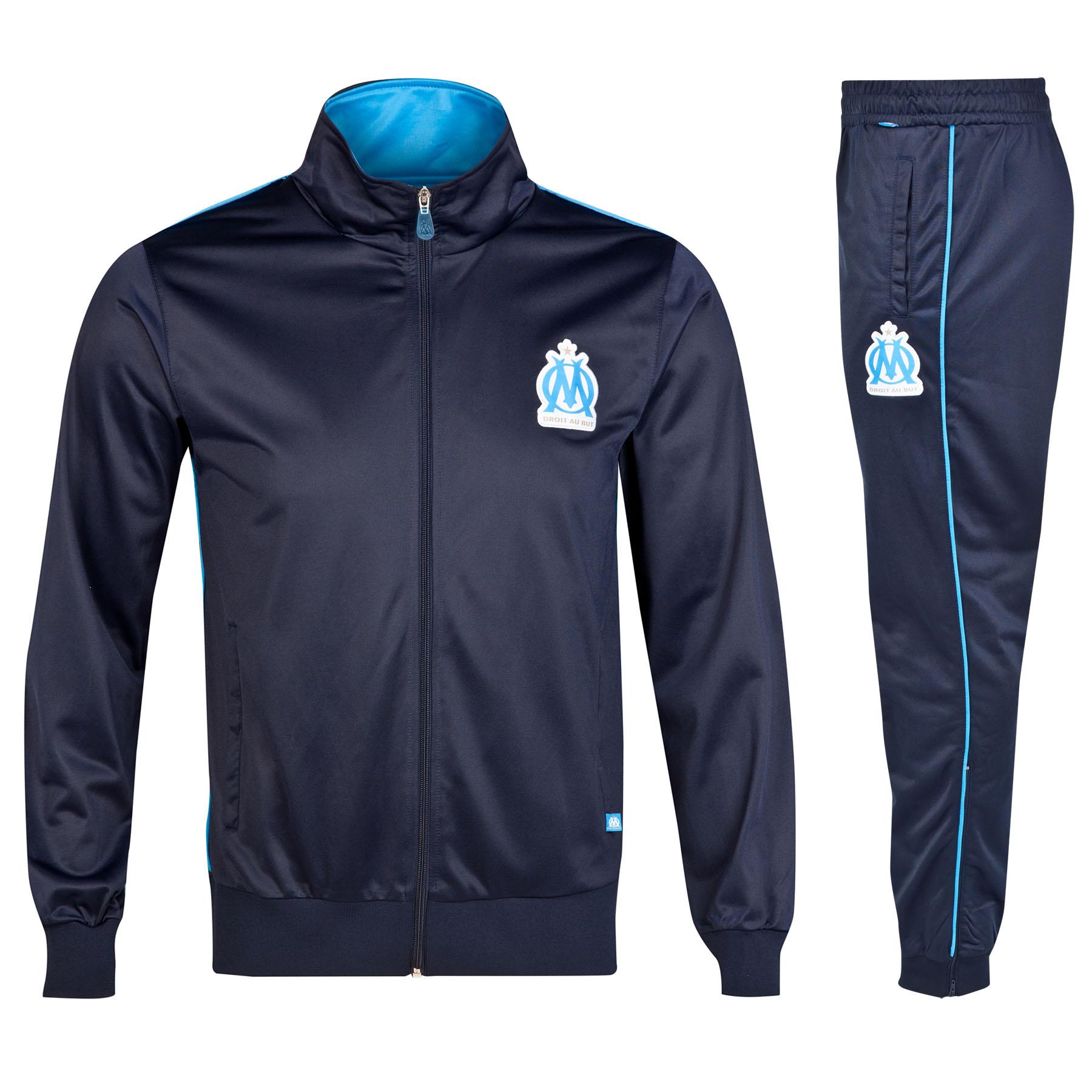Olympique de Marseille Tracksuit - Marine - Mens