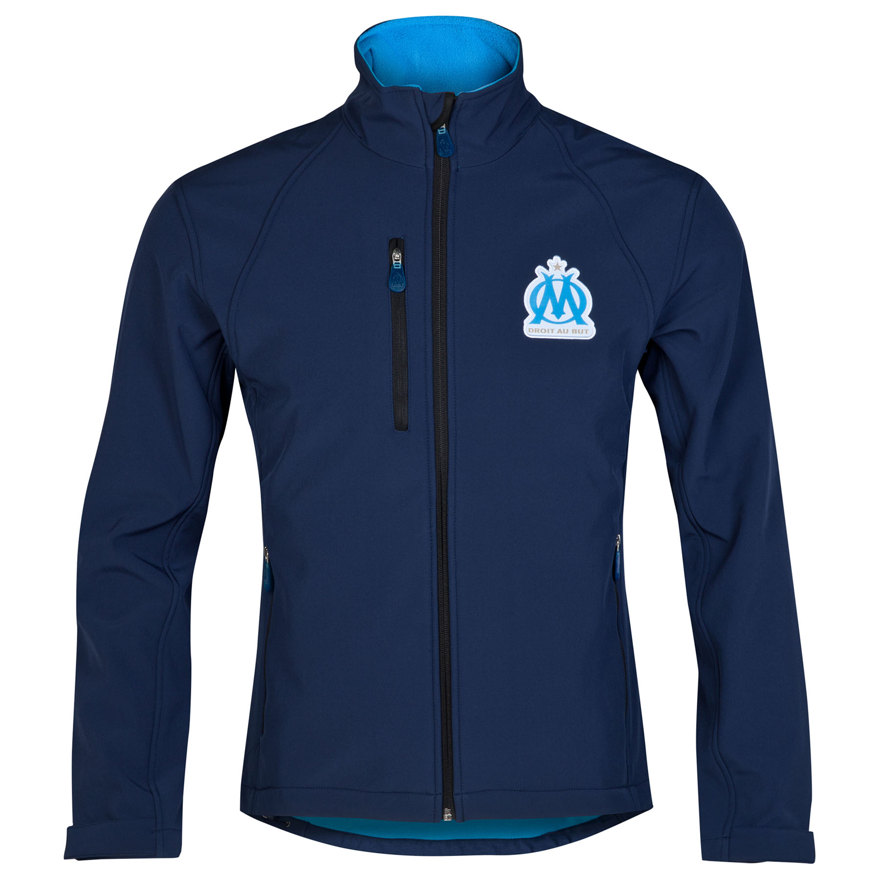Olympique de Marseille Soft Shell Jacket - Marine - Mens