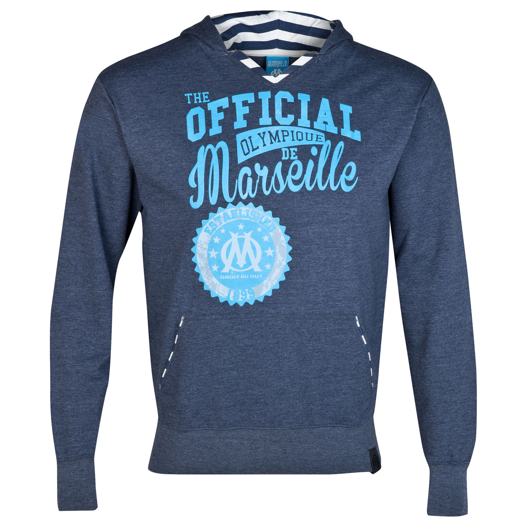Olympique de Marseille Lifestyle Graphic Hoodie - Denim Blue - Mens