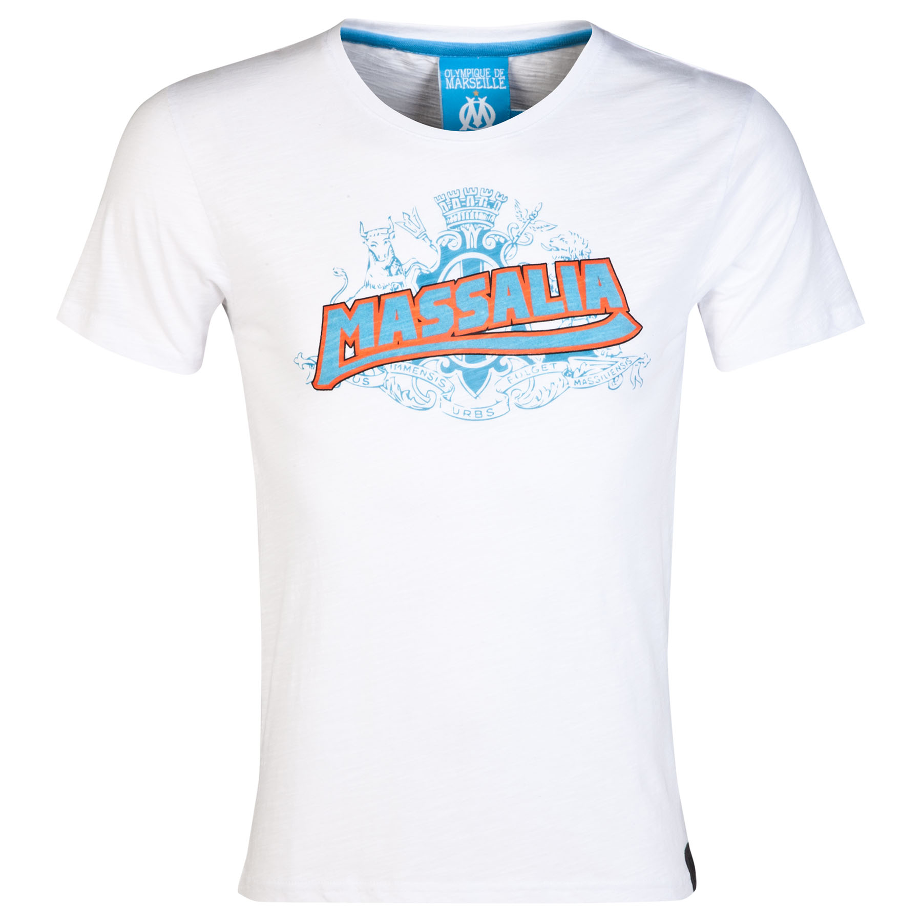 Olympique de Marseille Massalia 1 Graphic T-Shirt - White - Mens