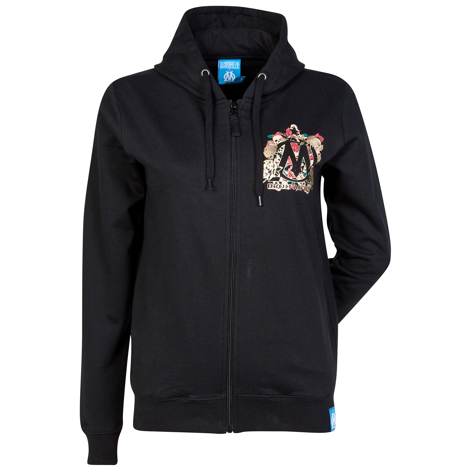 Olympique de Marseille Skull Graphic Hoodie - Black - Womens