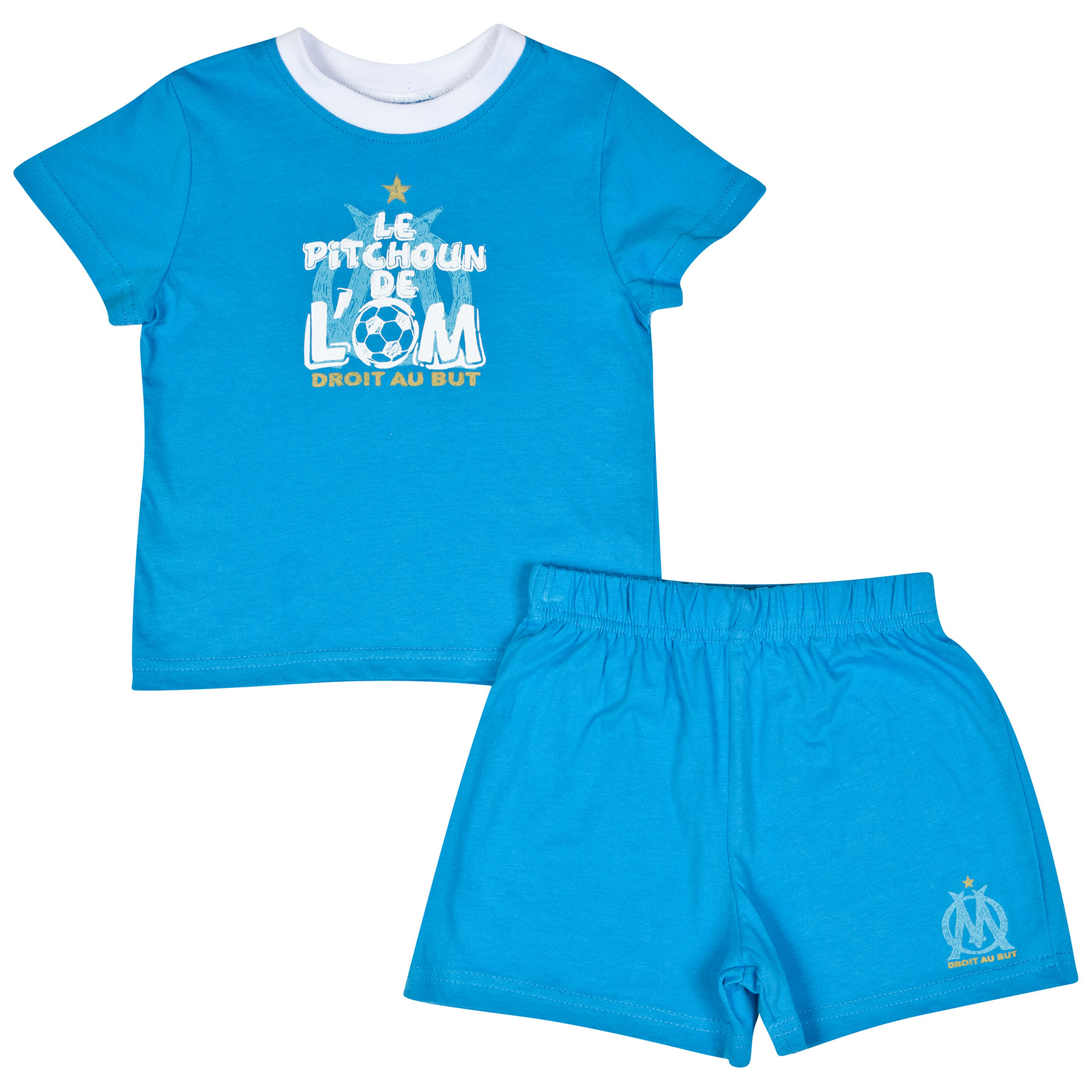 Olympique de Marseille T-Shirt and Short Set - Blue - Baby Boys