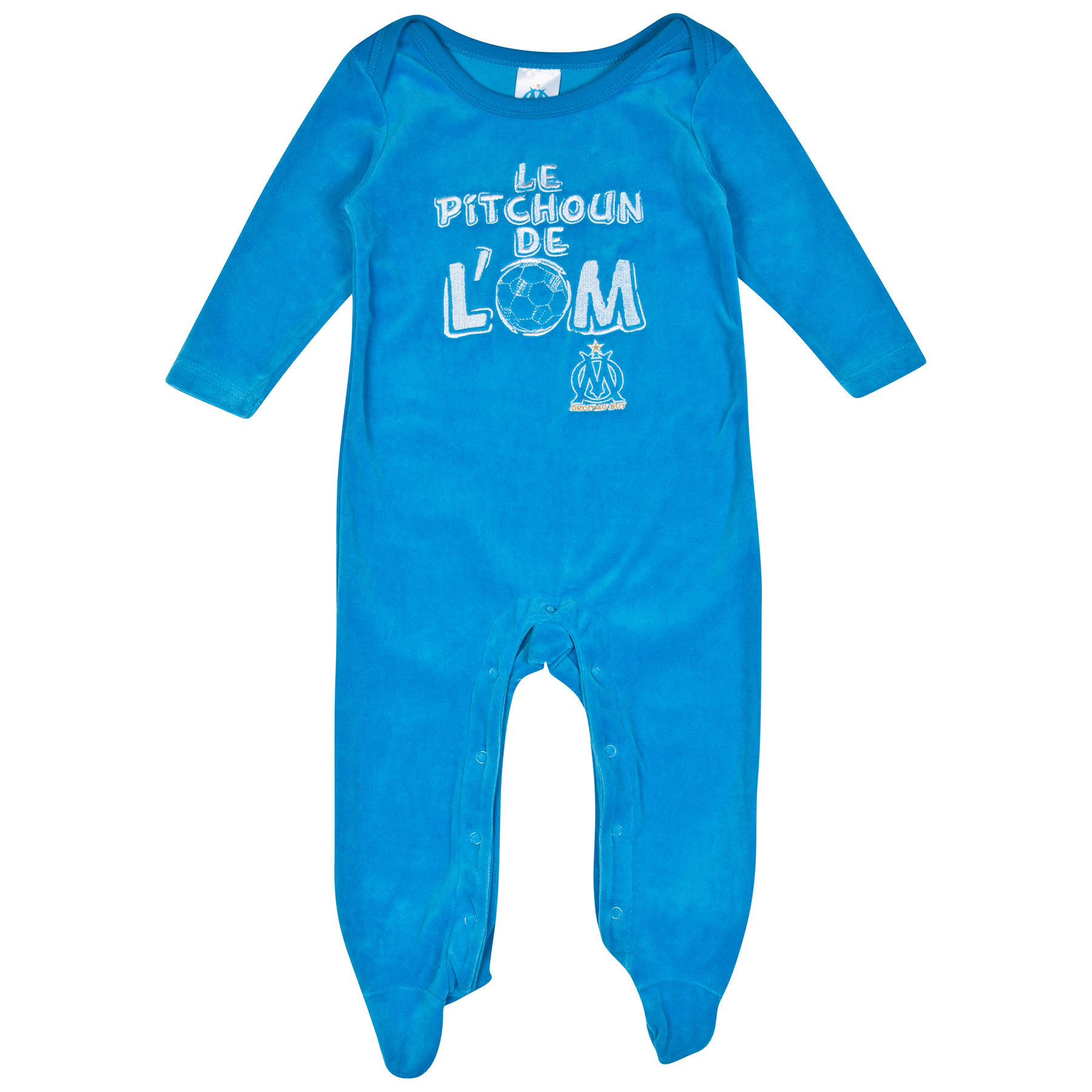 Olympique de Marseille Sleepsuit - Blue - Baby Boys