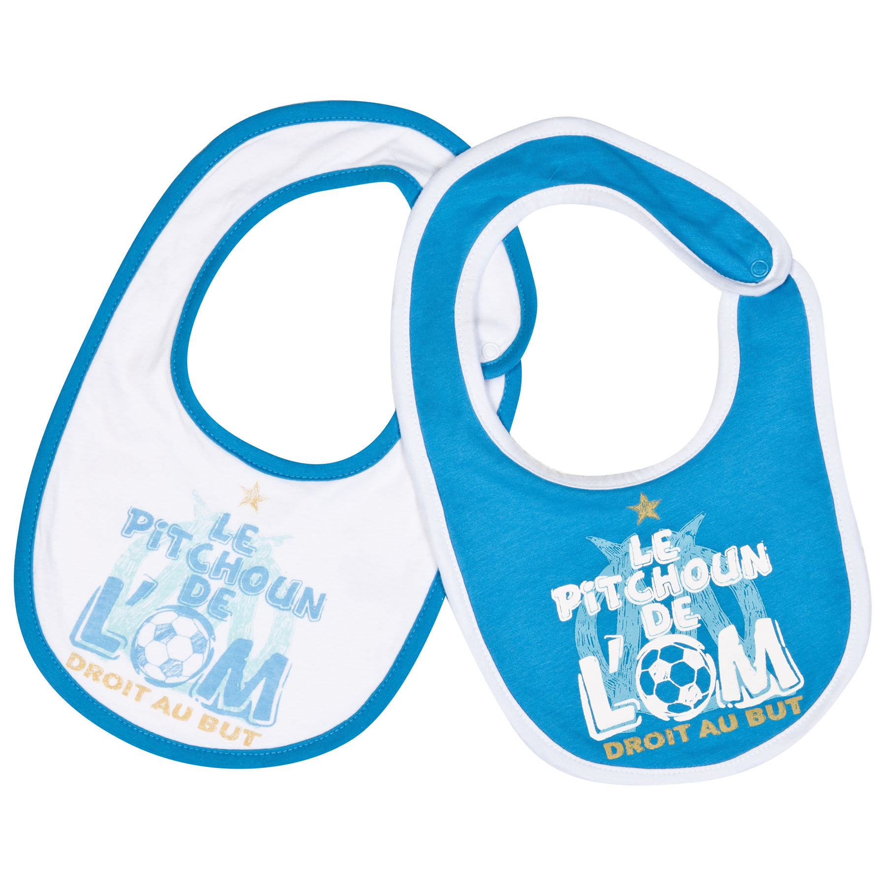 Olympique de Marseille 2 PK Bibs - Blue/White - Baby Boys