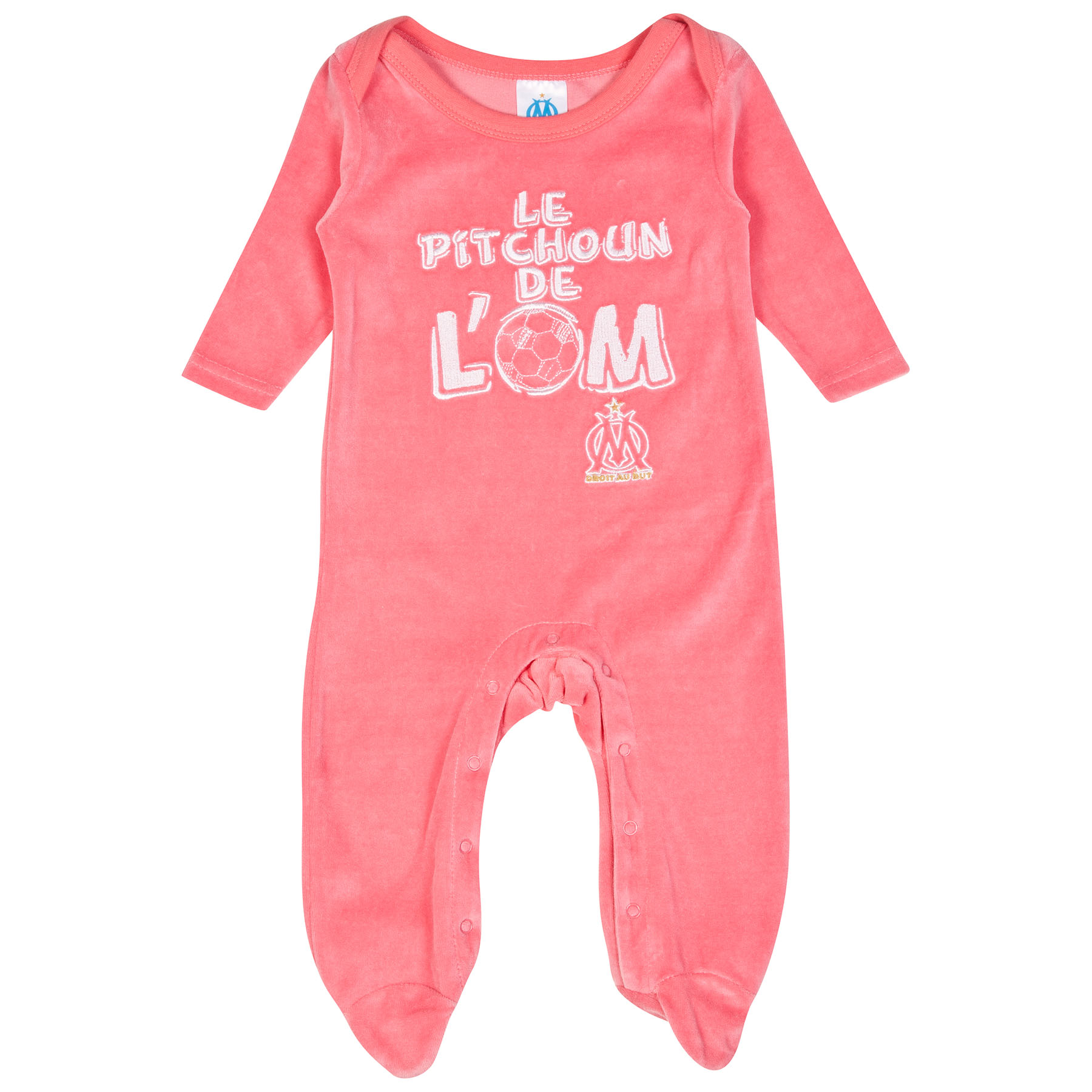 Olympique de Marseille Sleepsuit - Pink - Baby Girls