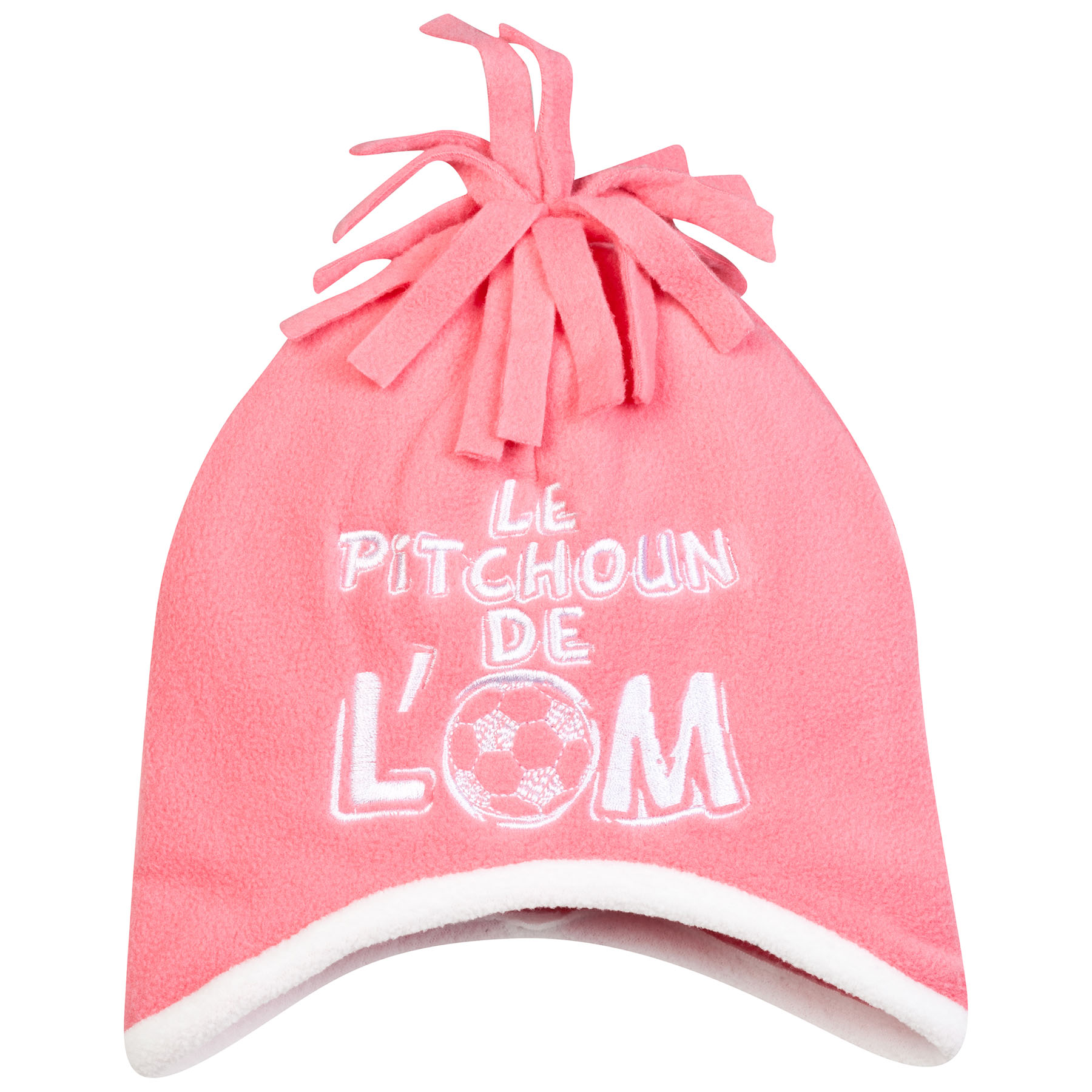 Olympique de Marseille Bobble Hat - Pink - Baby Girls