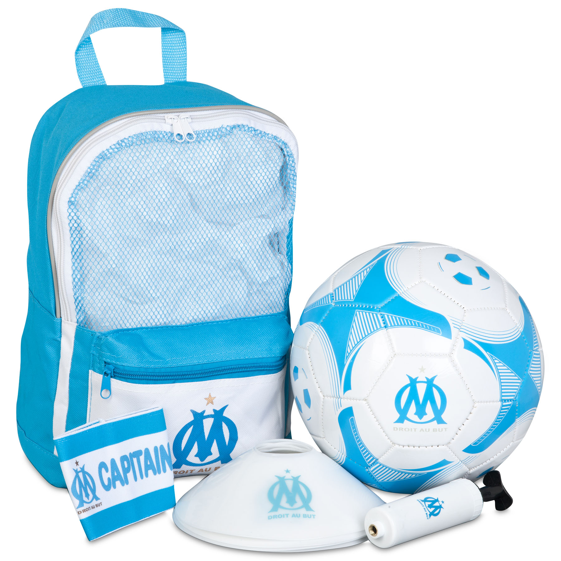 Olympique de Marseille Football Kit Bag - Blue