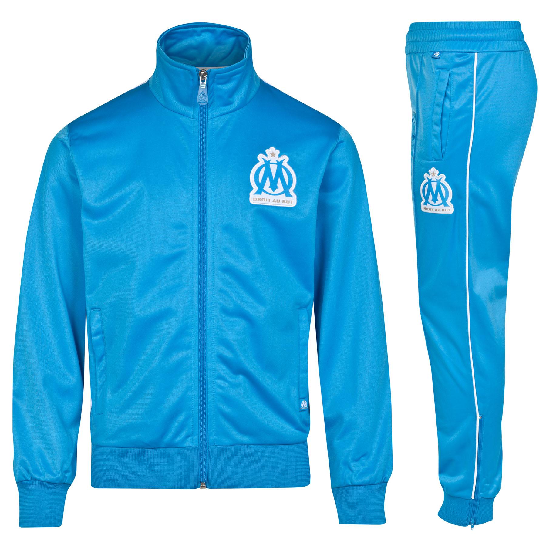 Olympique de Marseille Tracksuit - Blue - Boys