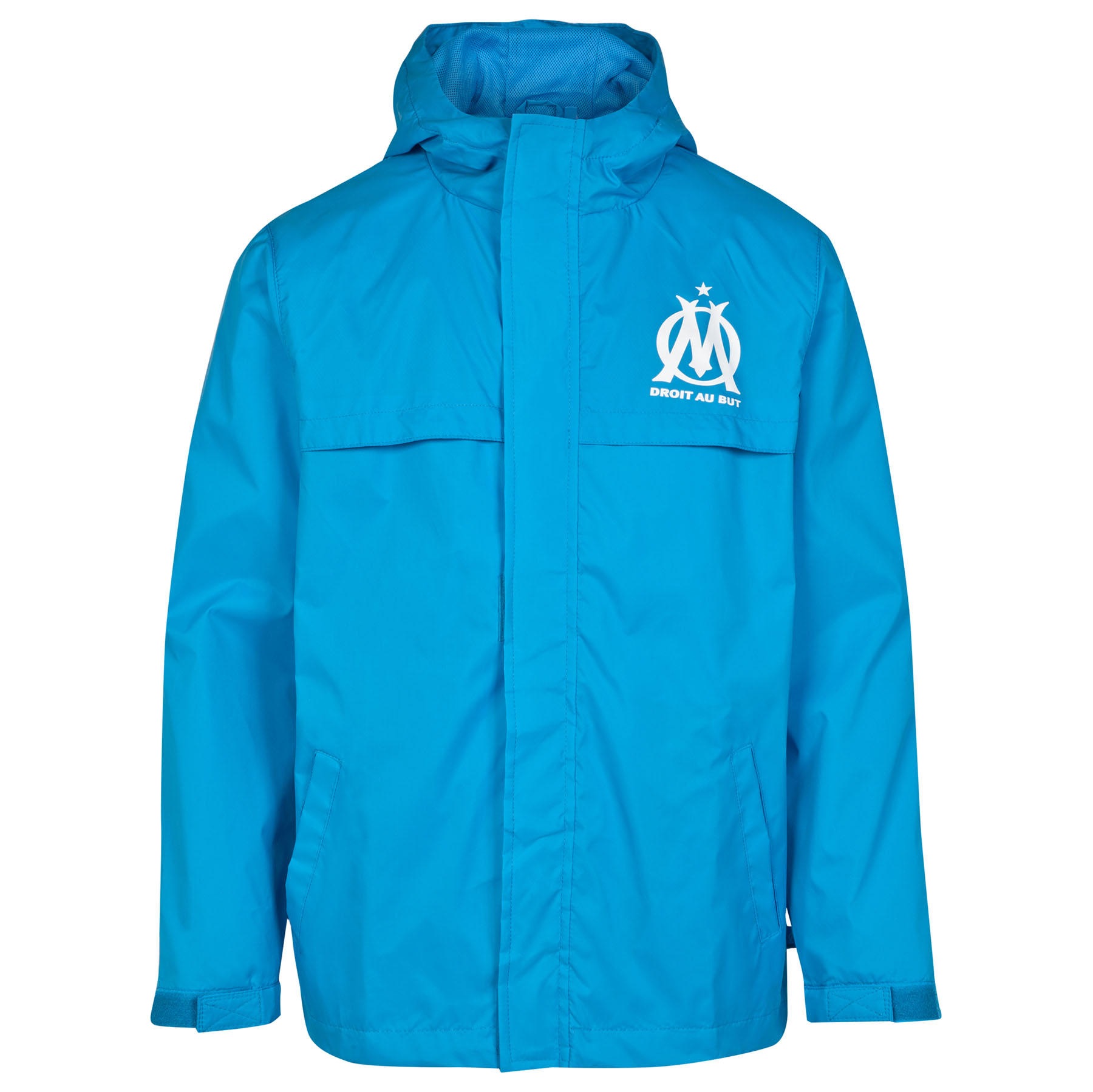 Olympique de Marseille Shower Jacket - Blue - Boys