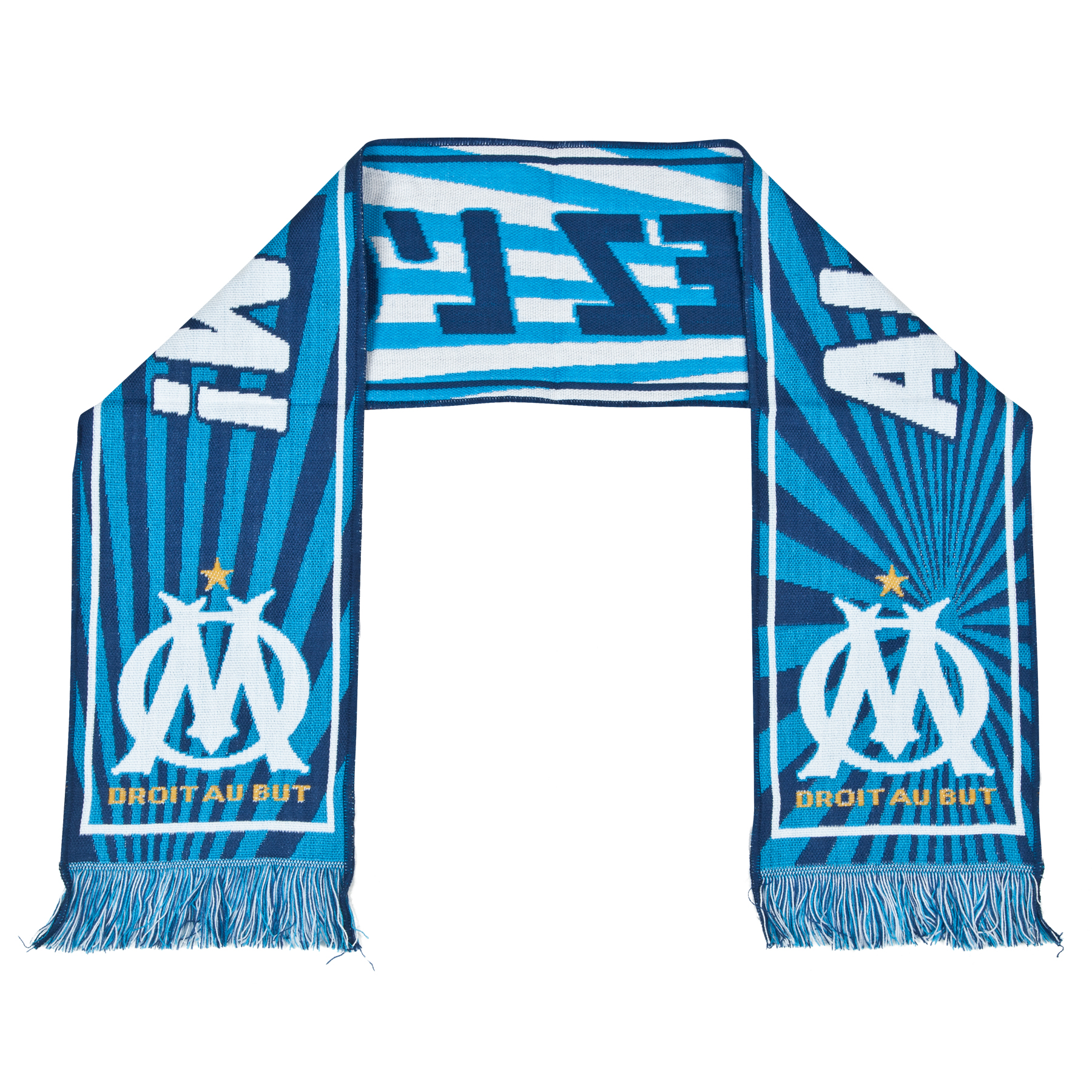 Olympique de Marseille Allez LOM Scarf Blue