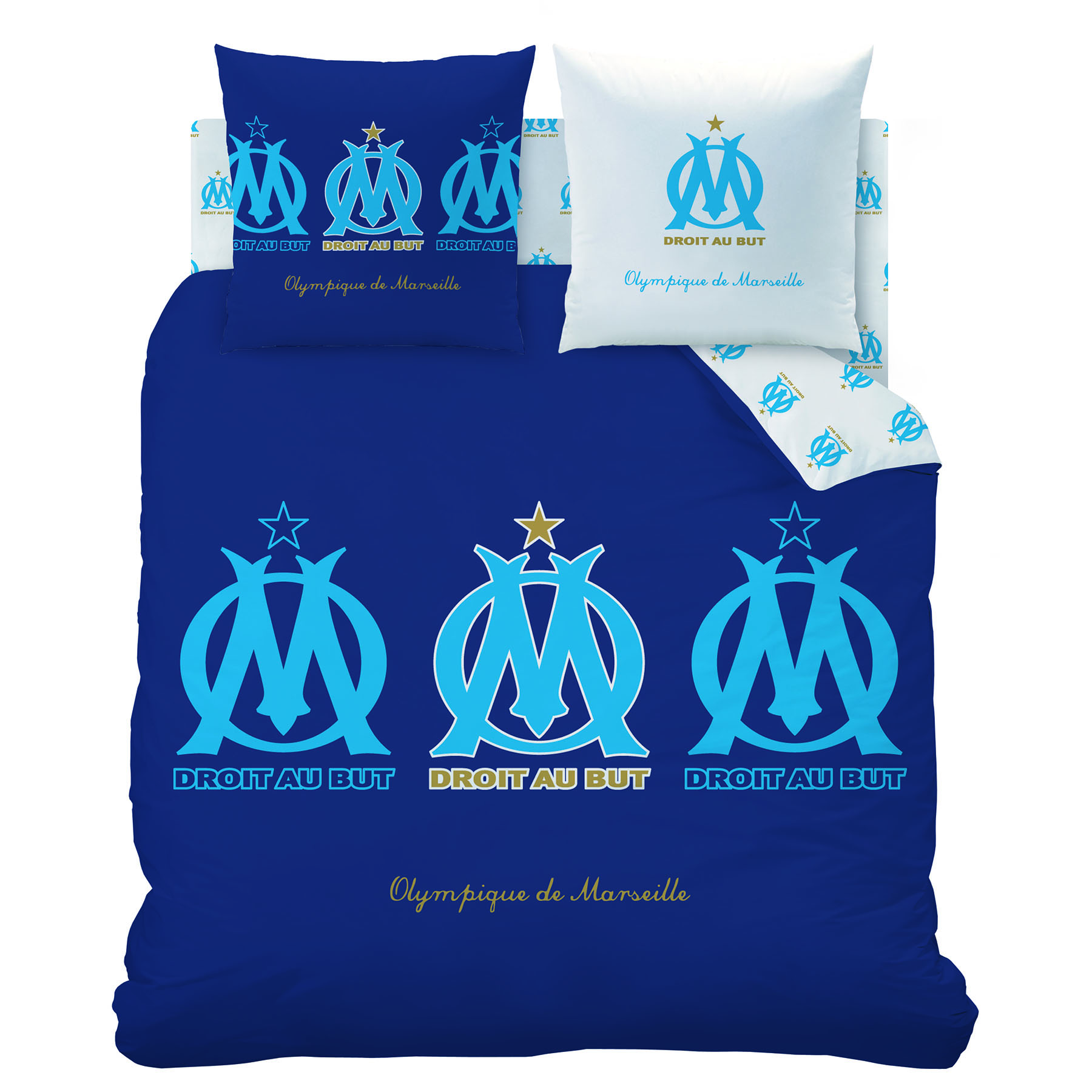 Olympique de Marseille Duvet Set with 2 pillowcase - 240 x 220 cm