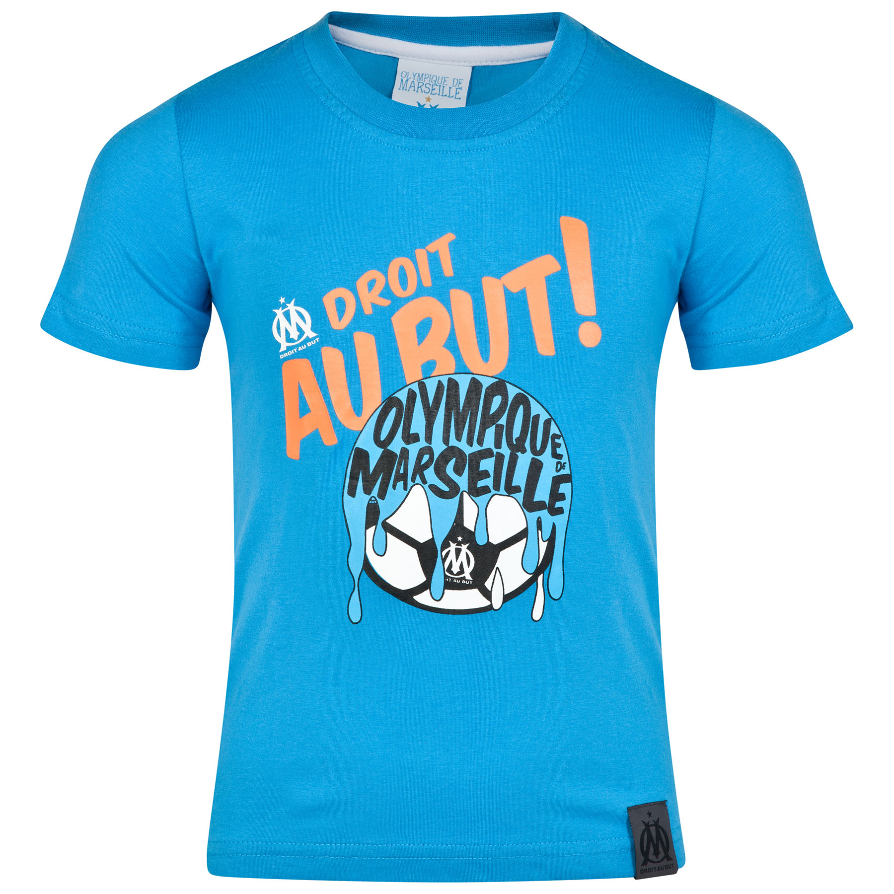 Olympique de Marseille Football Paint T-Shirt - Blue - Boys Blue