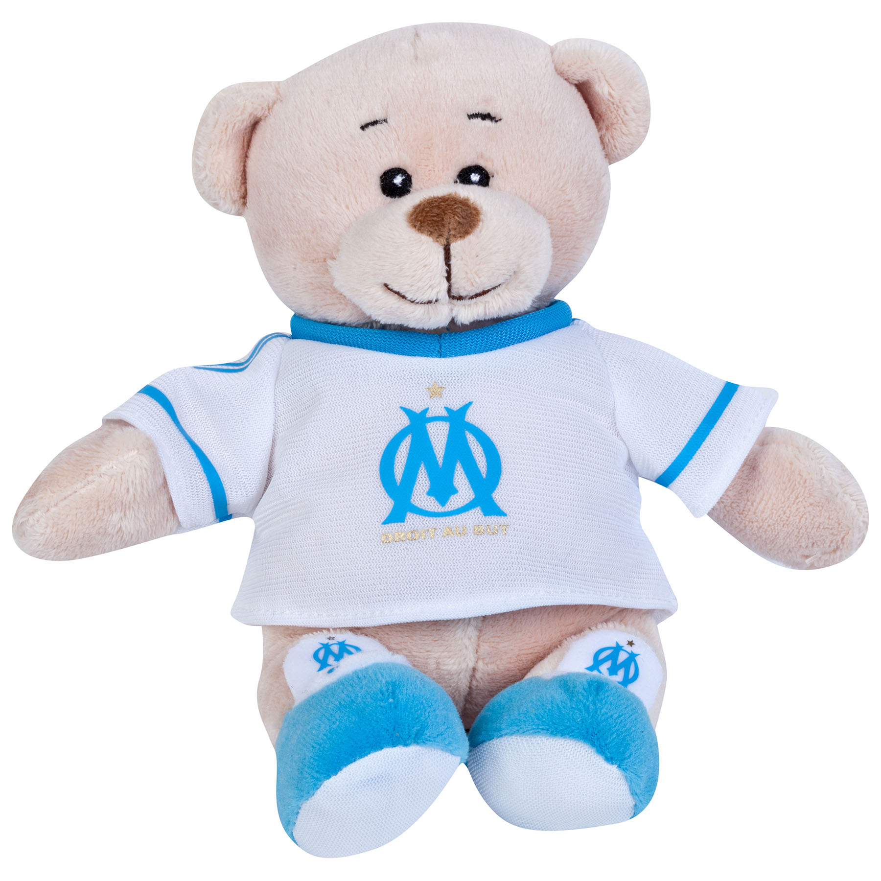 Olympique de Marseille Bear with Home T-Shirt - Beige - 15 cm