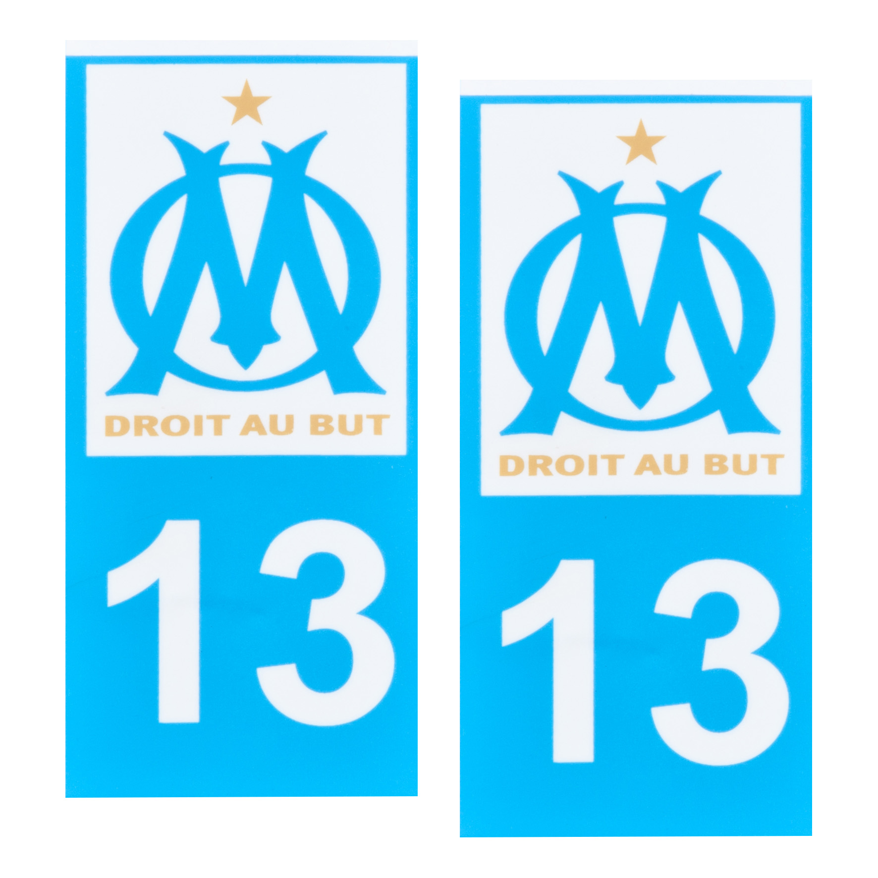 Olympique de Marseille Registration Plate Sticker
