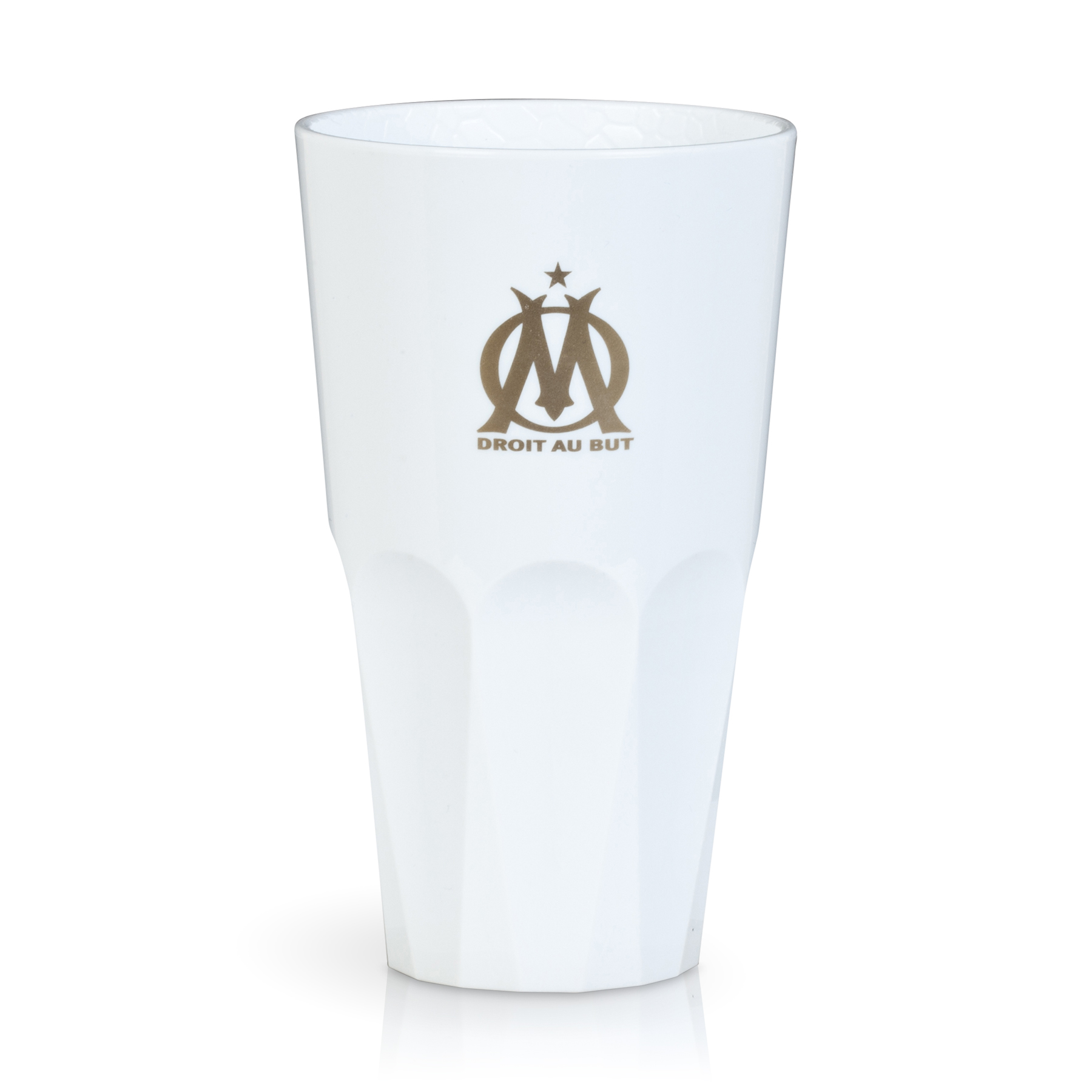 Olympique de Marseille Alligator White 50cl Unbreakable Glass - Pack of 6