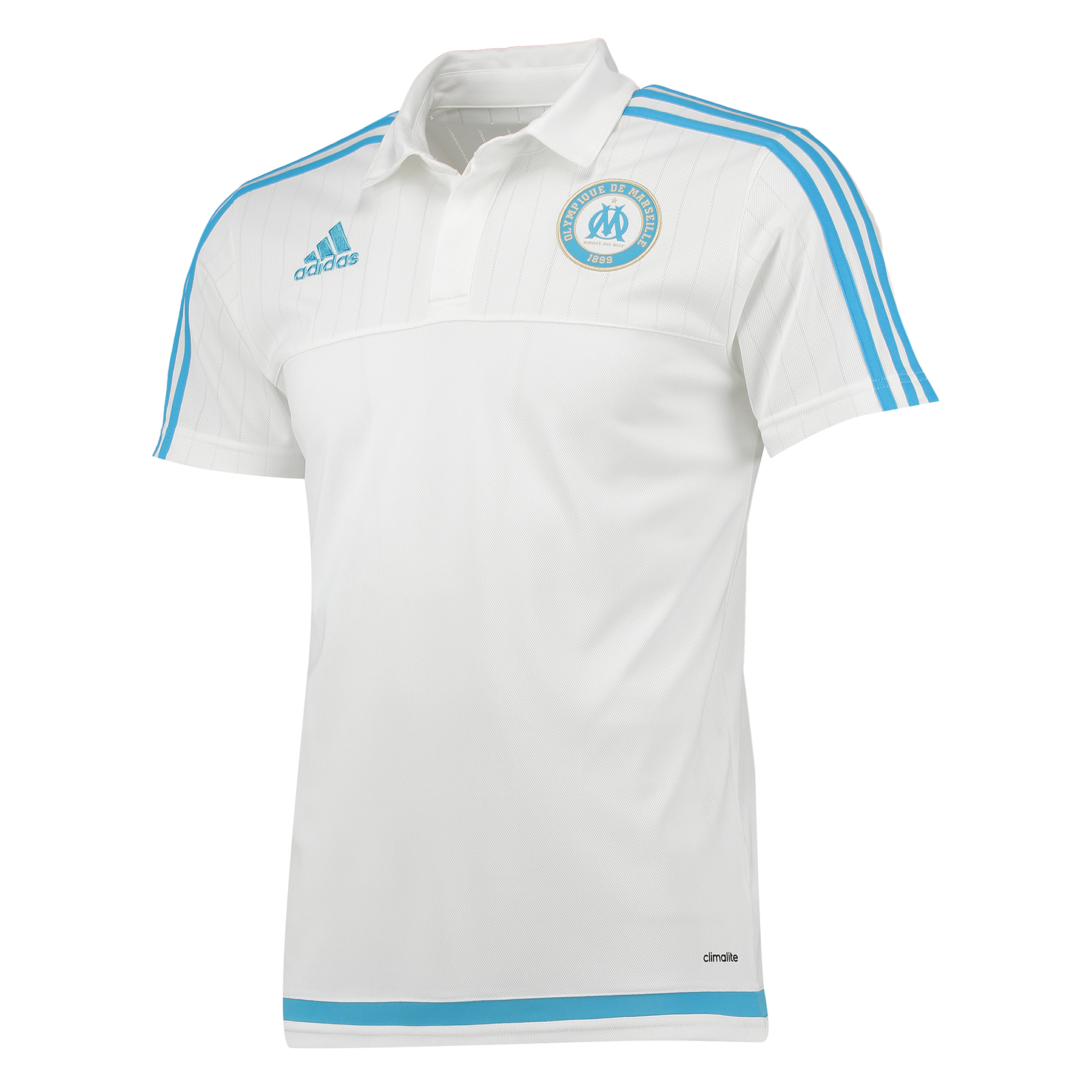 "Image of ""Polo Olympique de Marseille - Blanc/Bleu"""