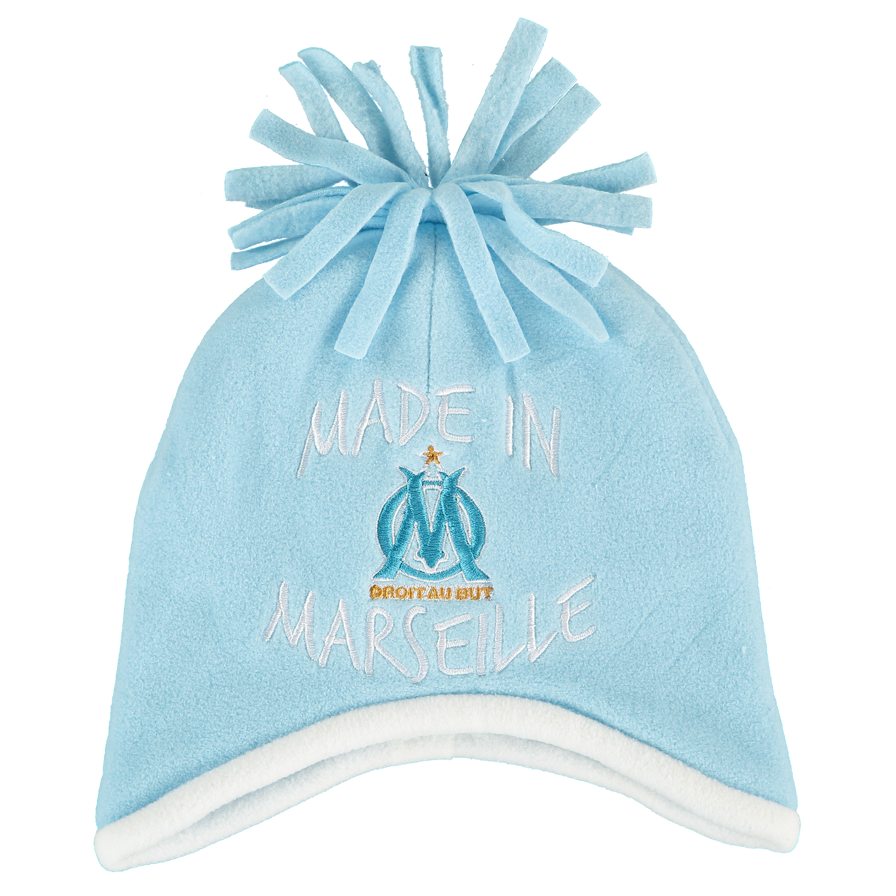 Olympique de Marseille Made in Marseille Bobble Hat  Blue  Baby Boys