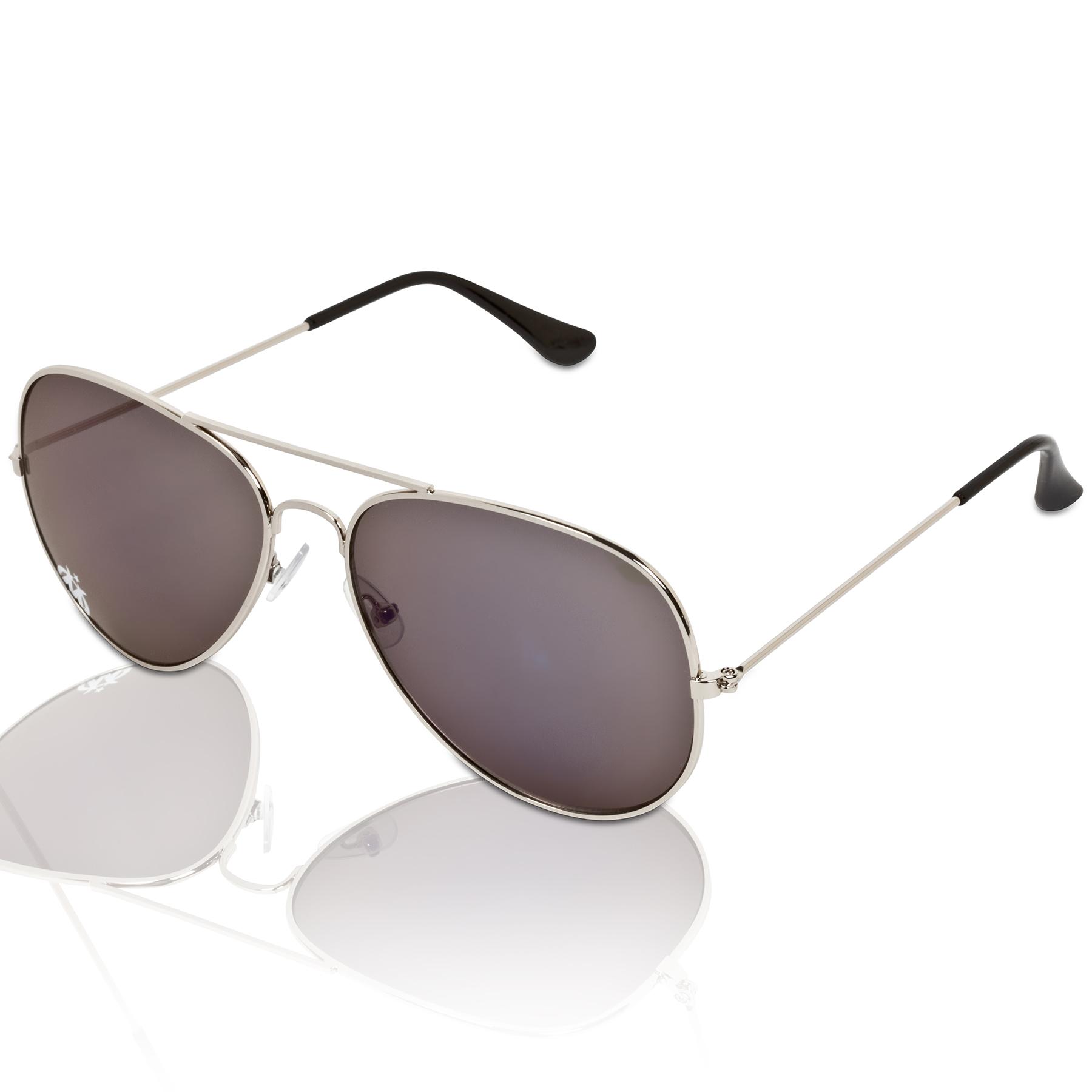 Olympique de Marseille Aviator Sunglasses  Silver