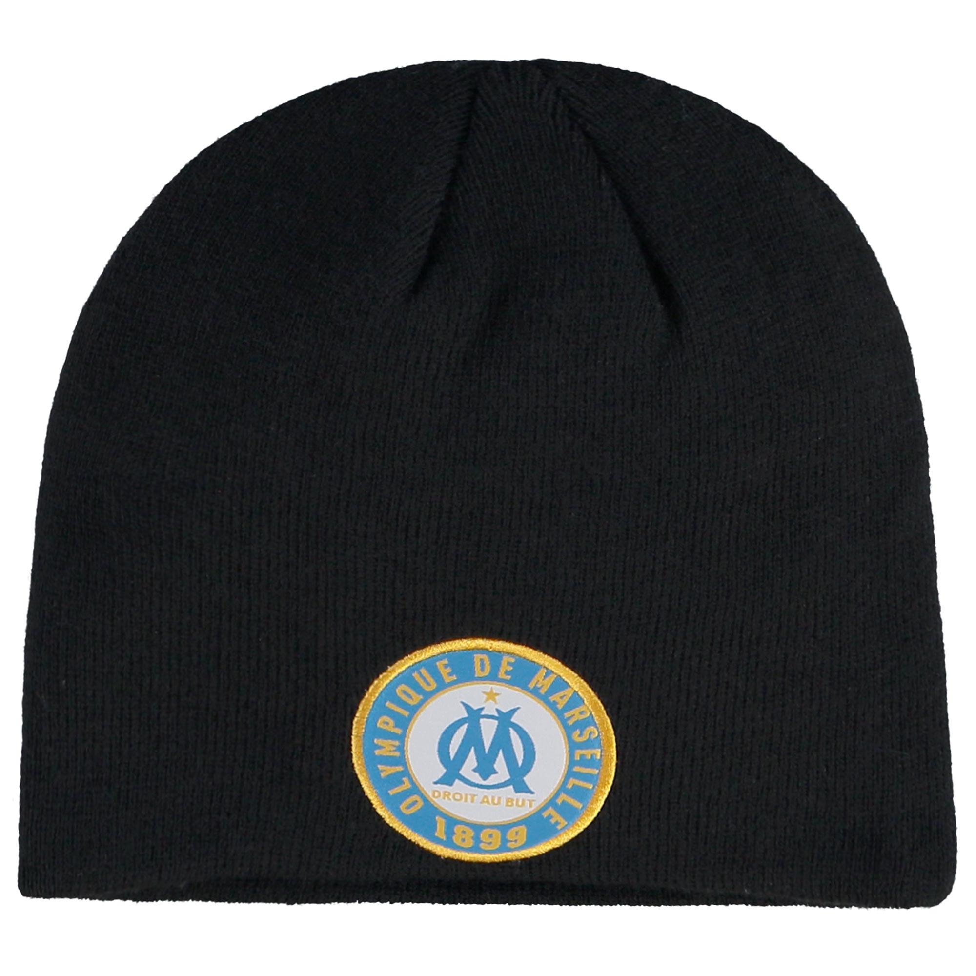 """Image of """"Bonnet Fan Olympique de Marseille - Noir - Adulte"""""""