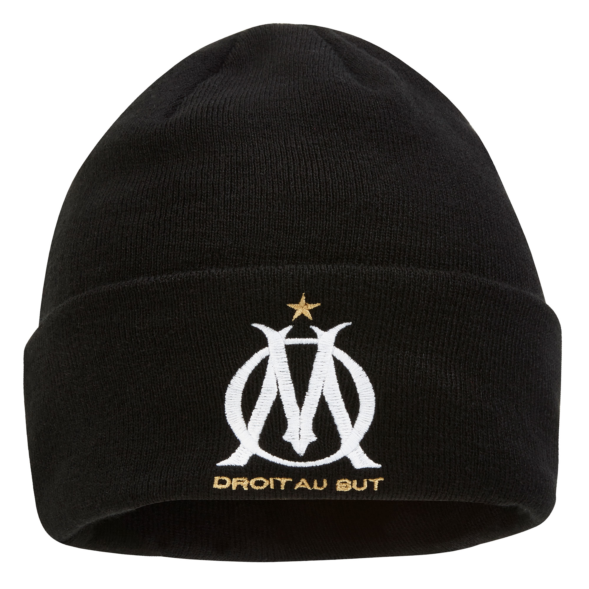 """Image of """"Bonnet Olympique de Marseille UEFA Europa League - Noir - Adulte"""""""