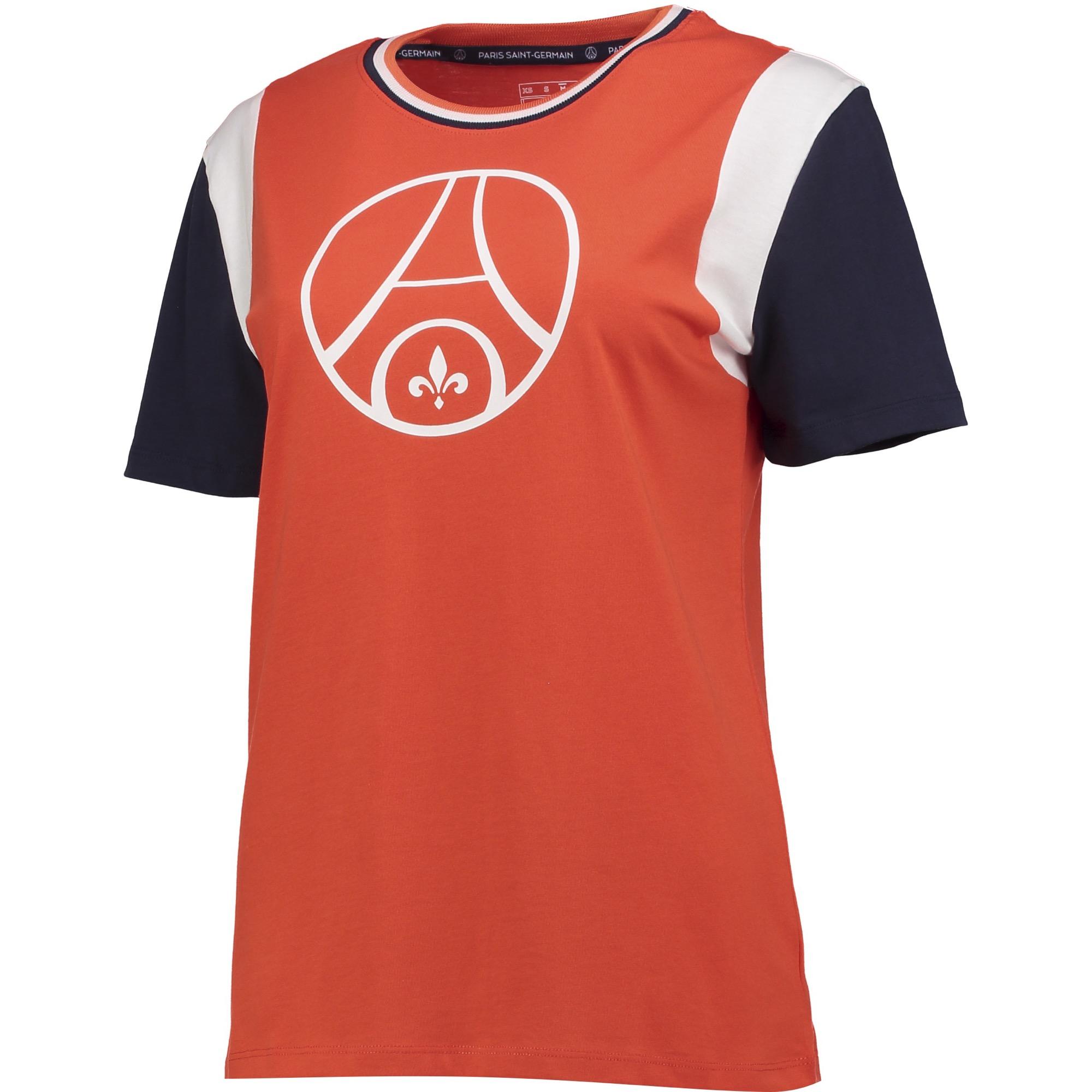 Camiseta Paris Saint-Germain Retro - Rojo - Mujer