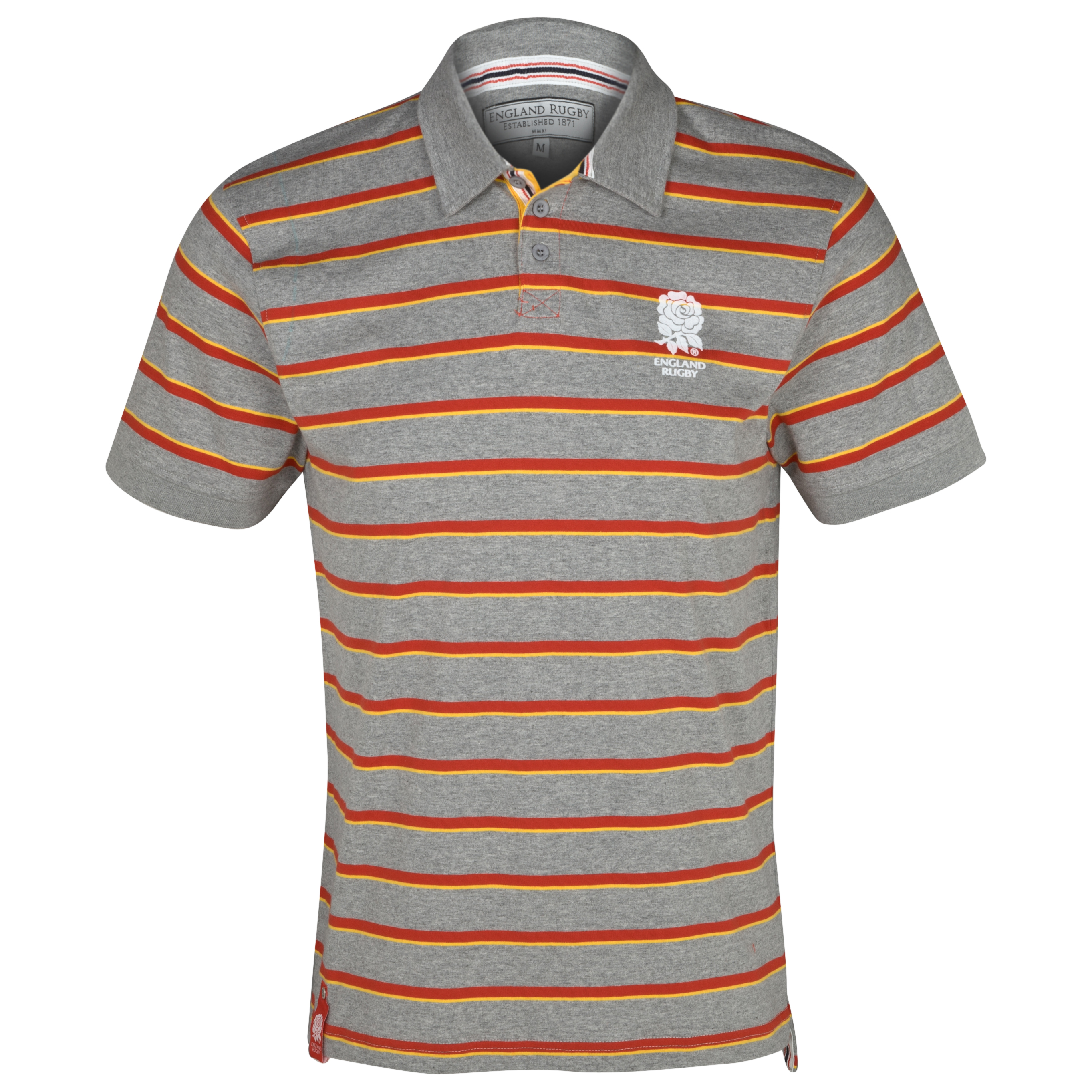 England Rugby SS Feeders Stripe Polo - Multi
