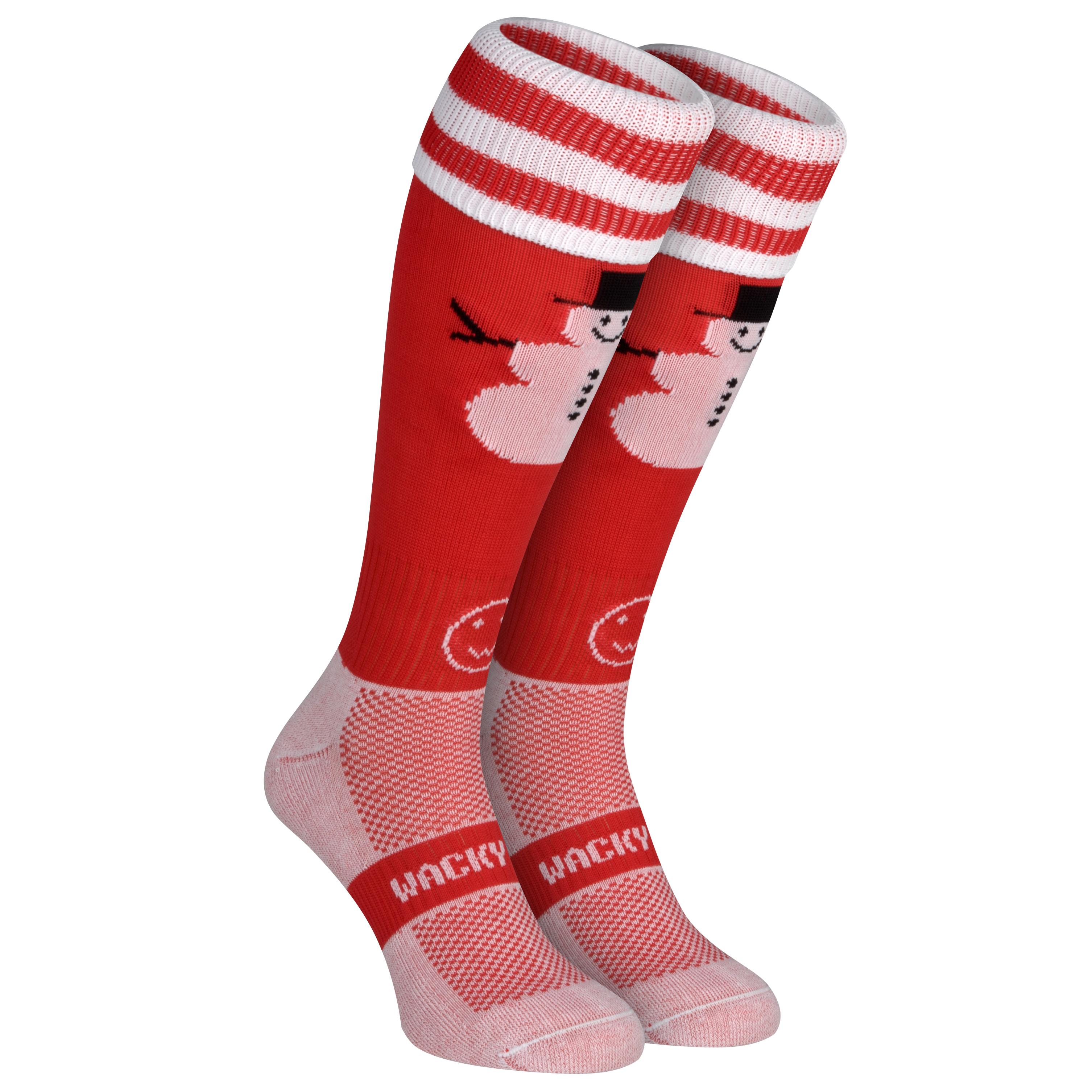 WackySox Snowman Socks - Size 2-6
