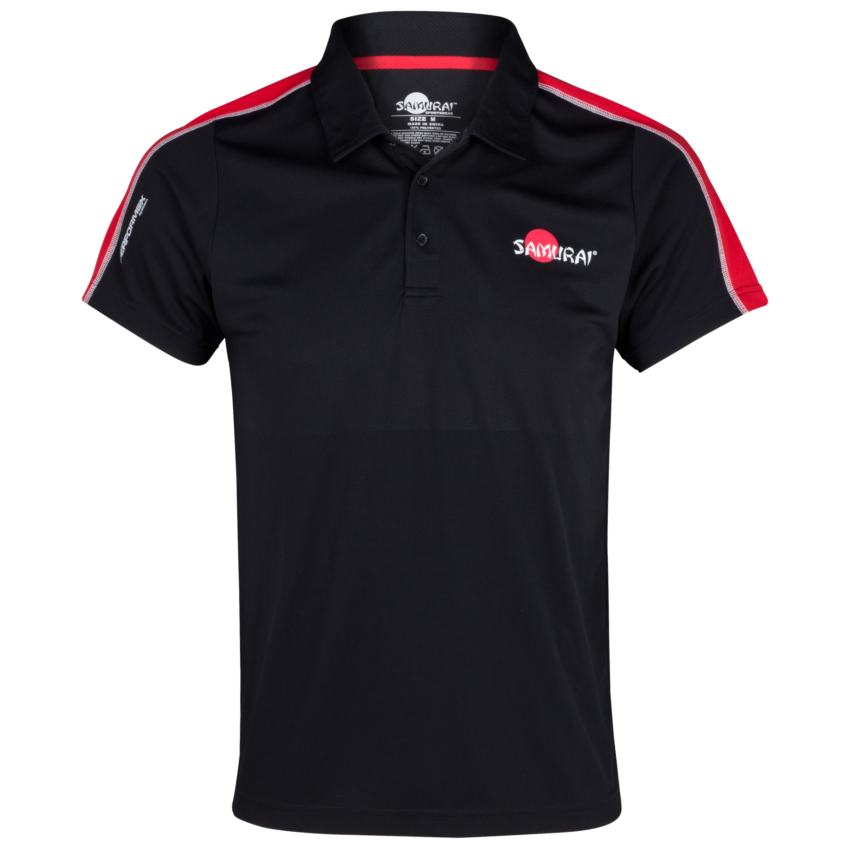 Samurai Rugby Pitchside Polo - Black