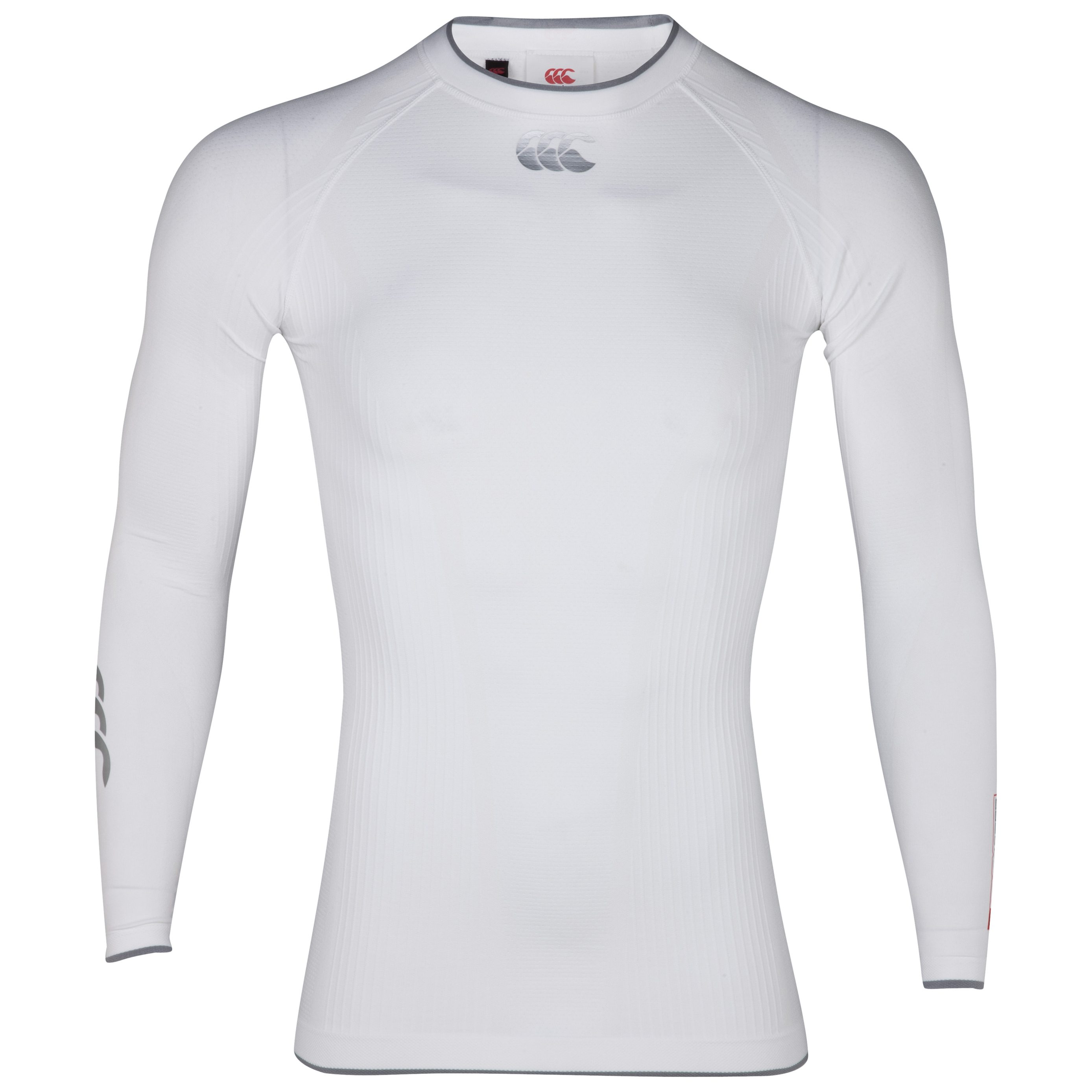 Canterbury iD Baselayer Top - Long Sleeve - White/Black