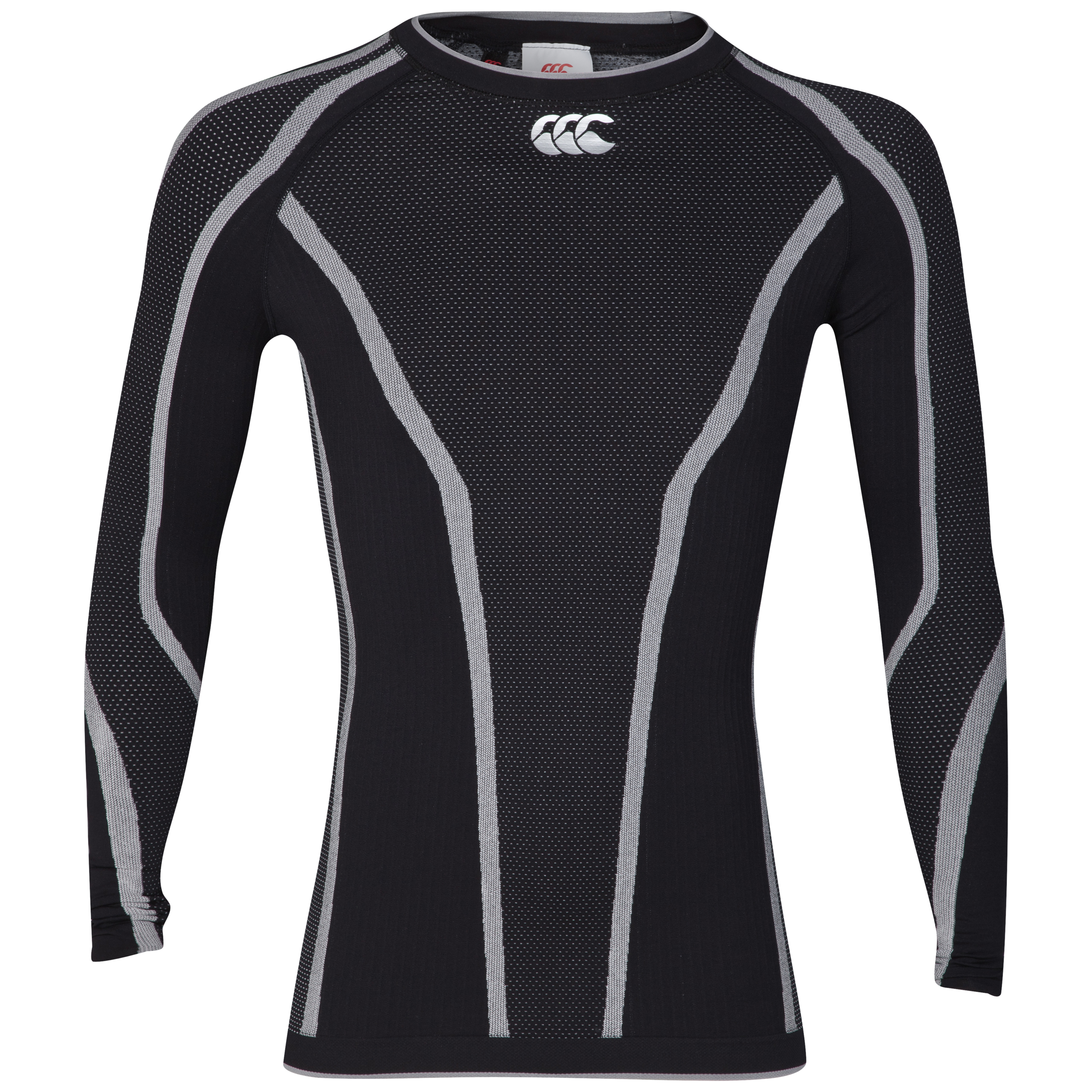 Canterbury iD Baselayer Top - Long Sleeve - Black/White