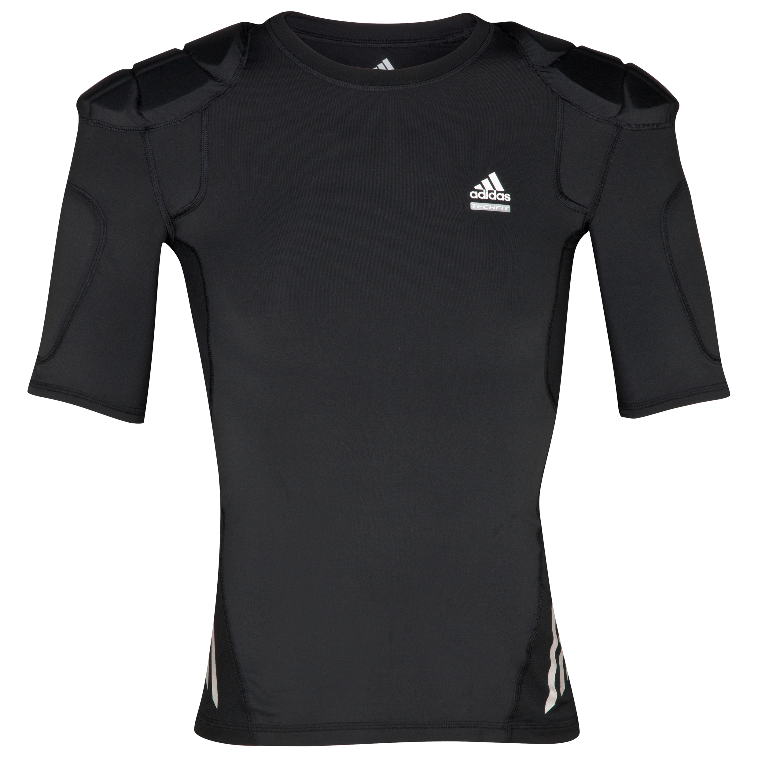 adidas Tech Fit Rugby Baselayer Protective Top - Black