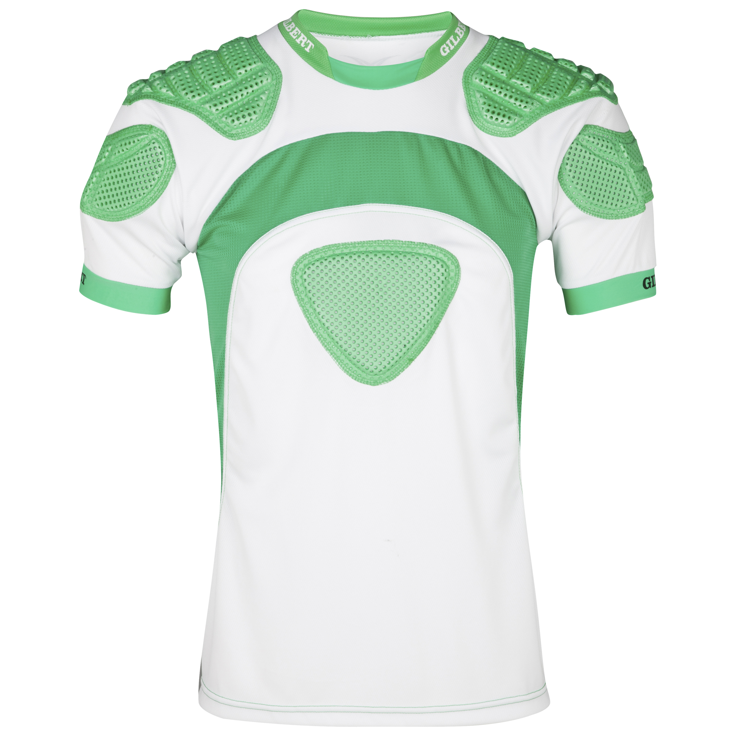 Gilbert Mercury Rugby Body Armour-White/Green -